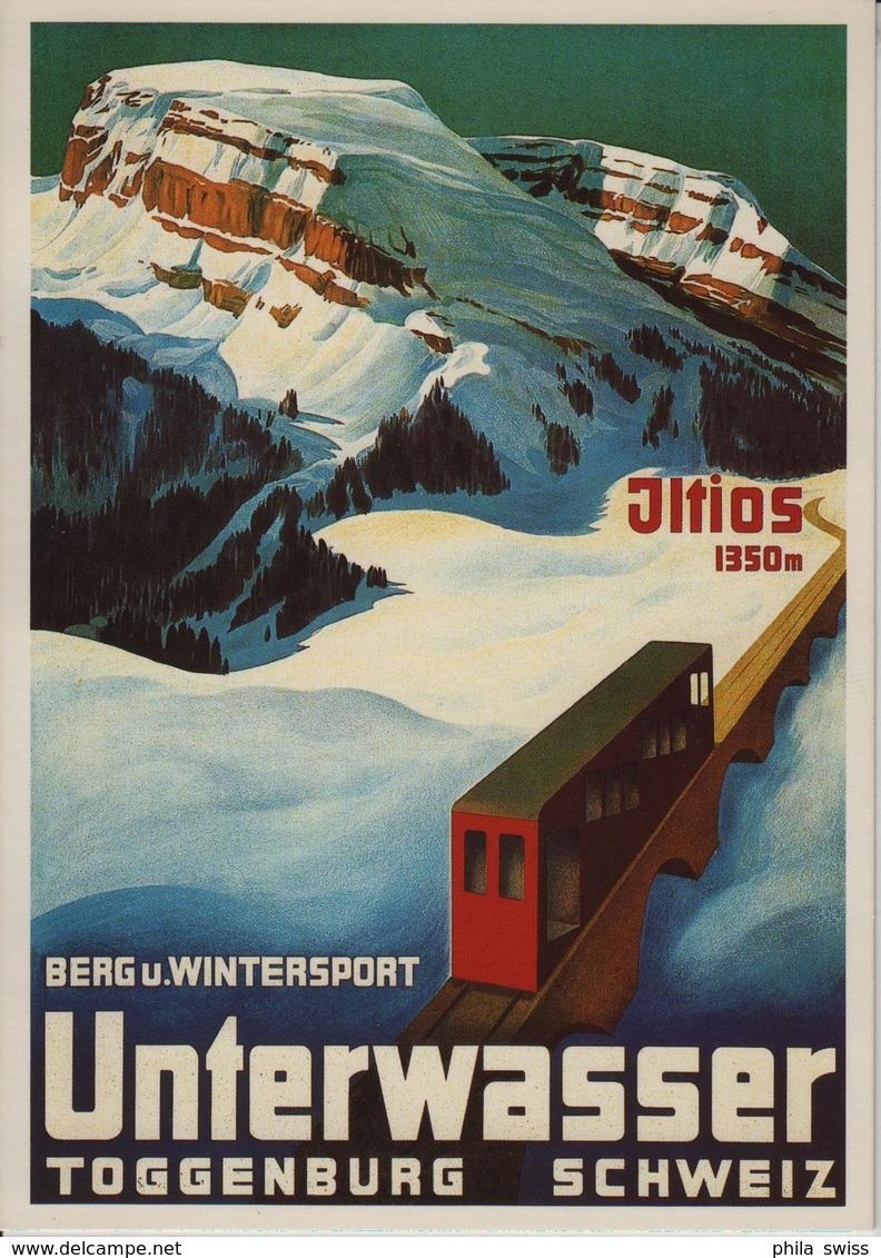 Unterwasser Toggenburg Berg- Und Wintersport Iltios - Carl Moos Repro Plakatsammlung ZH - SG St. Gall