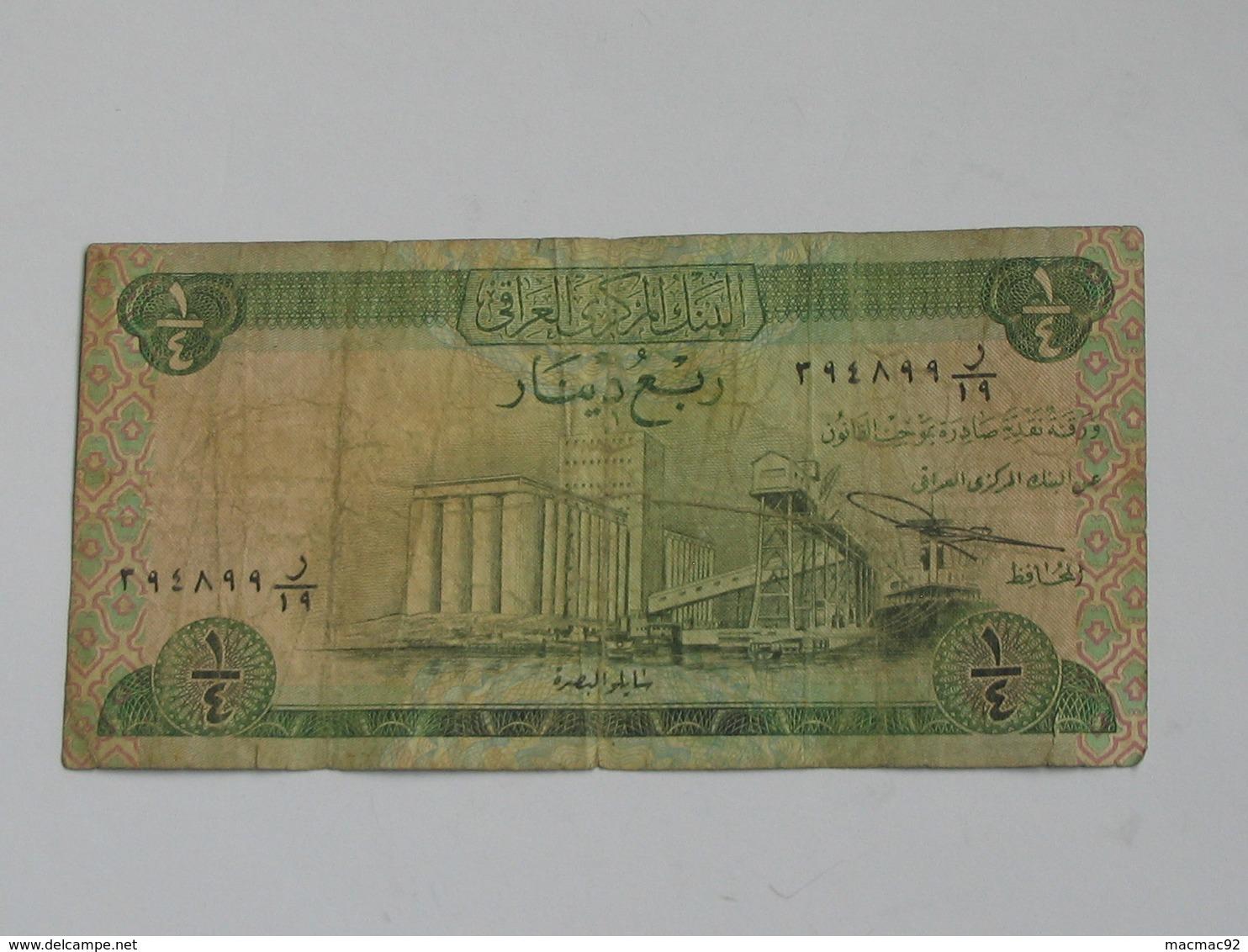1/4 Quarter Dinar 1973 - Central Bank Of IRAQ   **** EN ACHAT IMMEDIAT **** - Arabie Saoudite