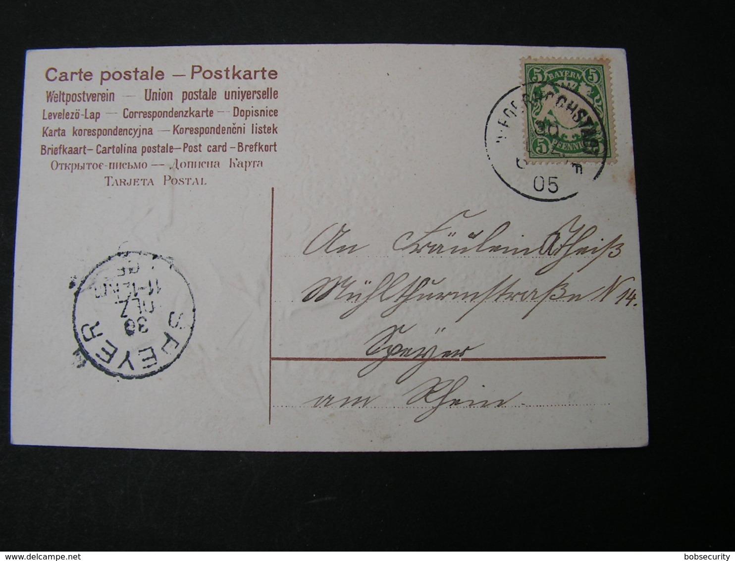 Engel Karte Speyer 1905 - Engel