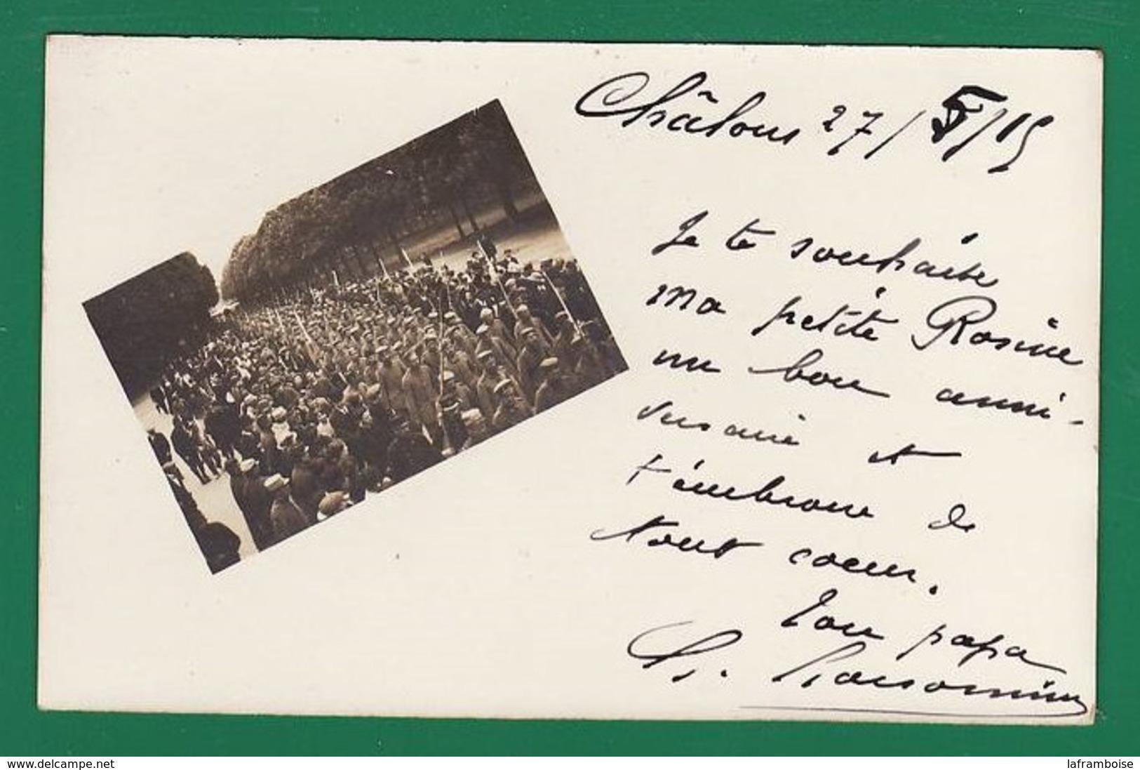 +307/ CHALONS 1915 Prisonniers Allemands Edit: : Très Très Bon état : - Guerre 1914-18