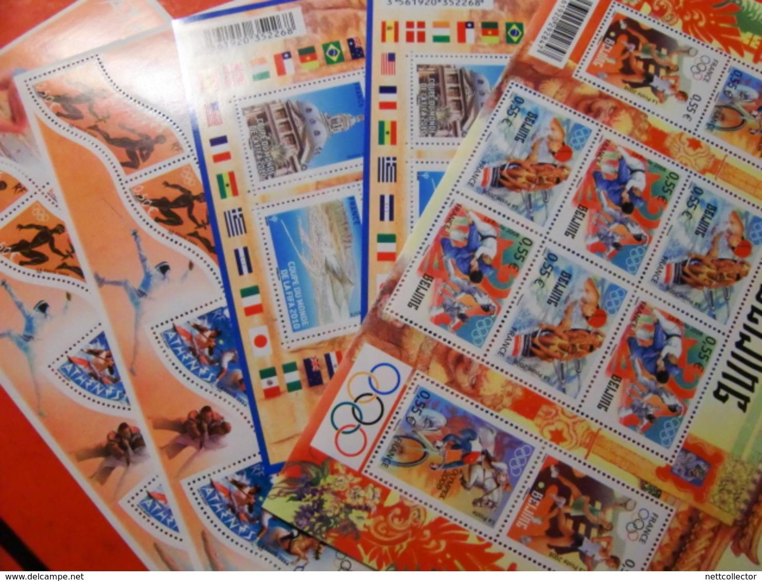 FRANCE FACIALE 145 EUROS /33 BLOCS SPORT NEUFS** SUPERBES - France