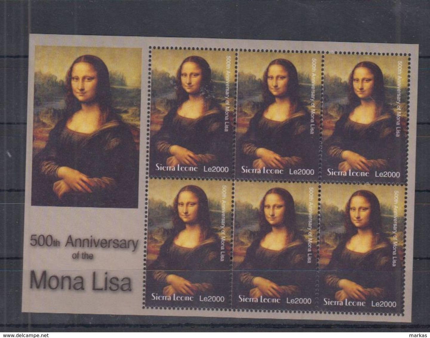 Q64. MNH Sierra Leone Art Painting Mona Lisa - Künste