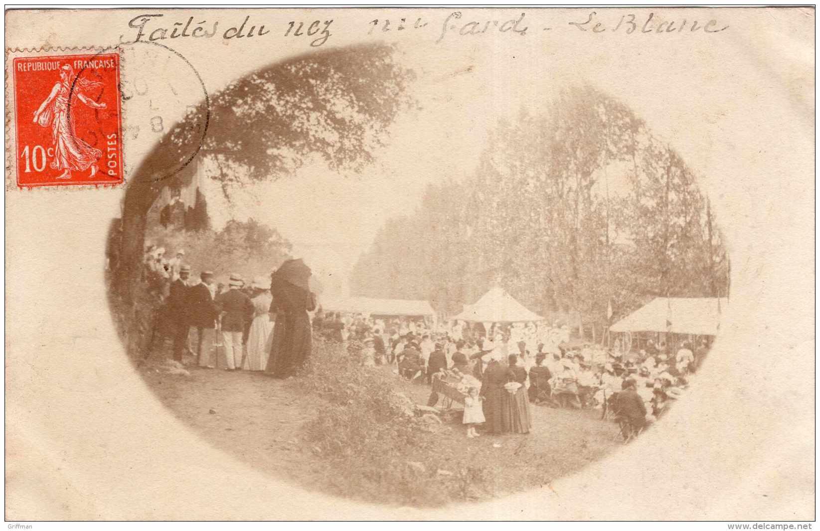 LE BLANC PHOTO CARTE FETE 1908 TBE - Le Blanc