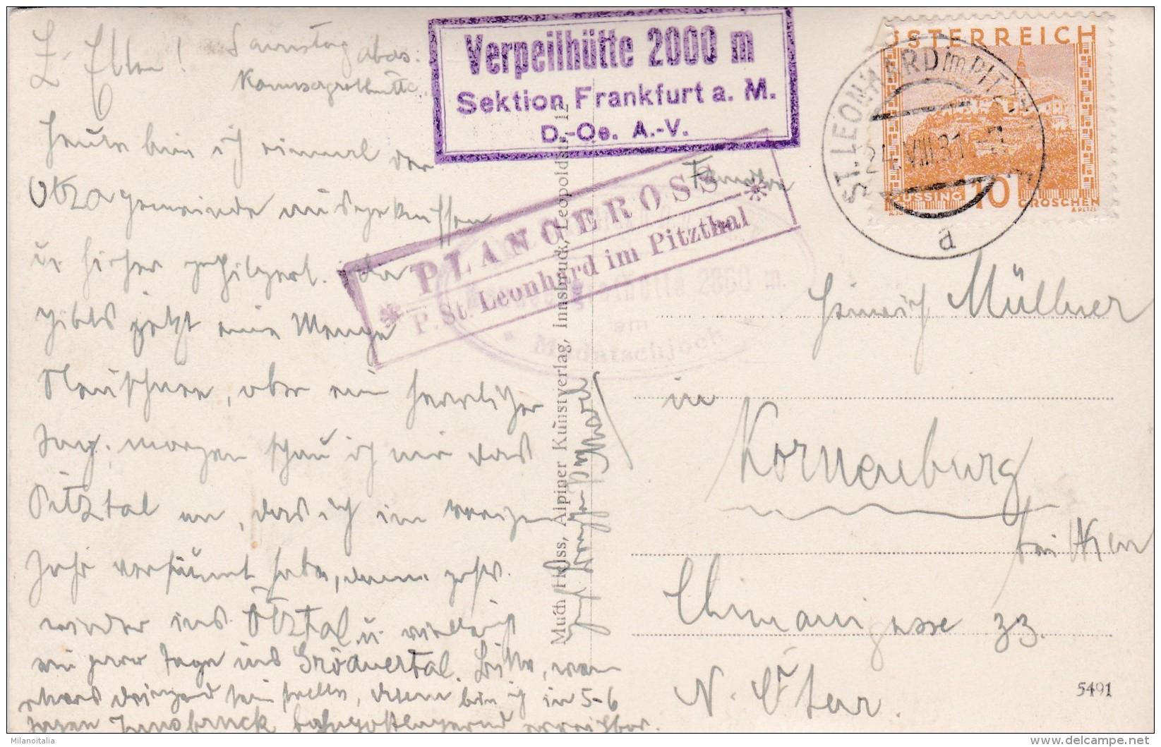 Madatschspitzen - Watzespitze (3259) * 24. 8. 1931 - Pitztal