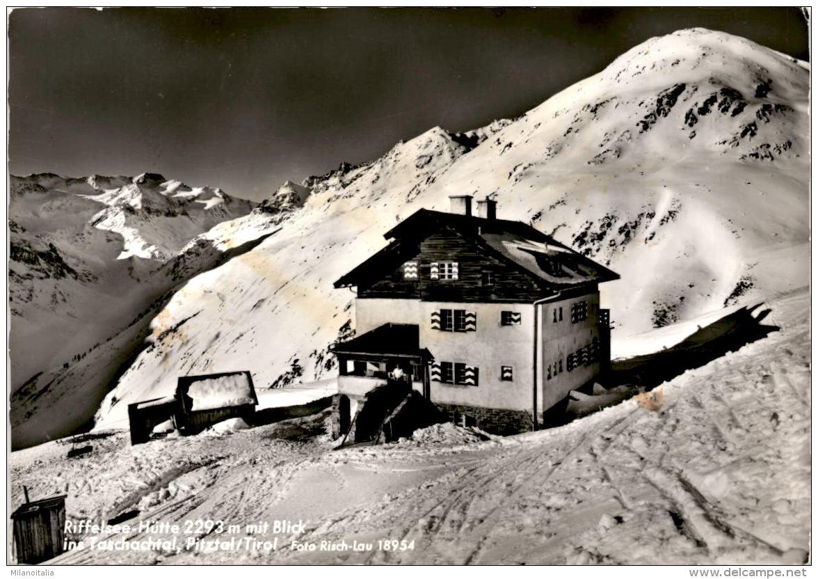 Riffelsee-Hütte Mit Blick Ins Taschachtal, Pitztal, Tirol (18954) - Pitztal