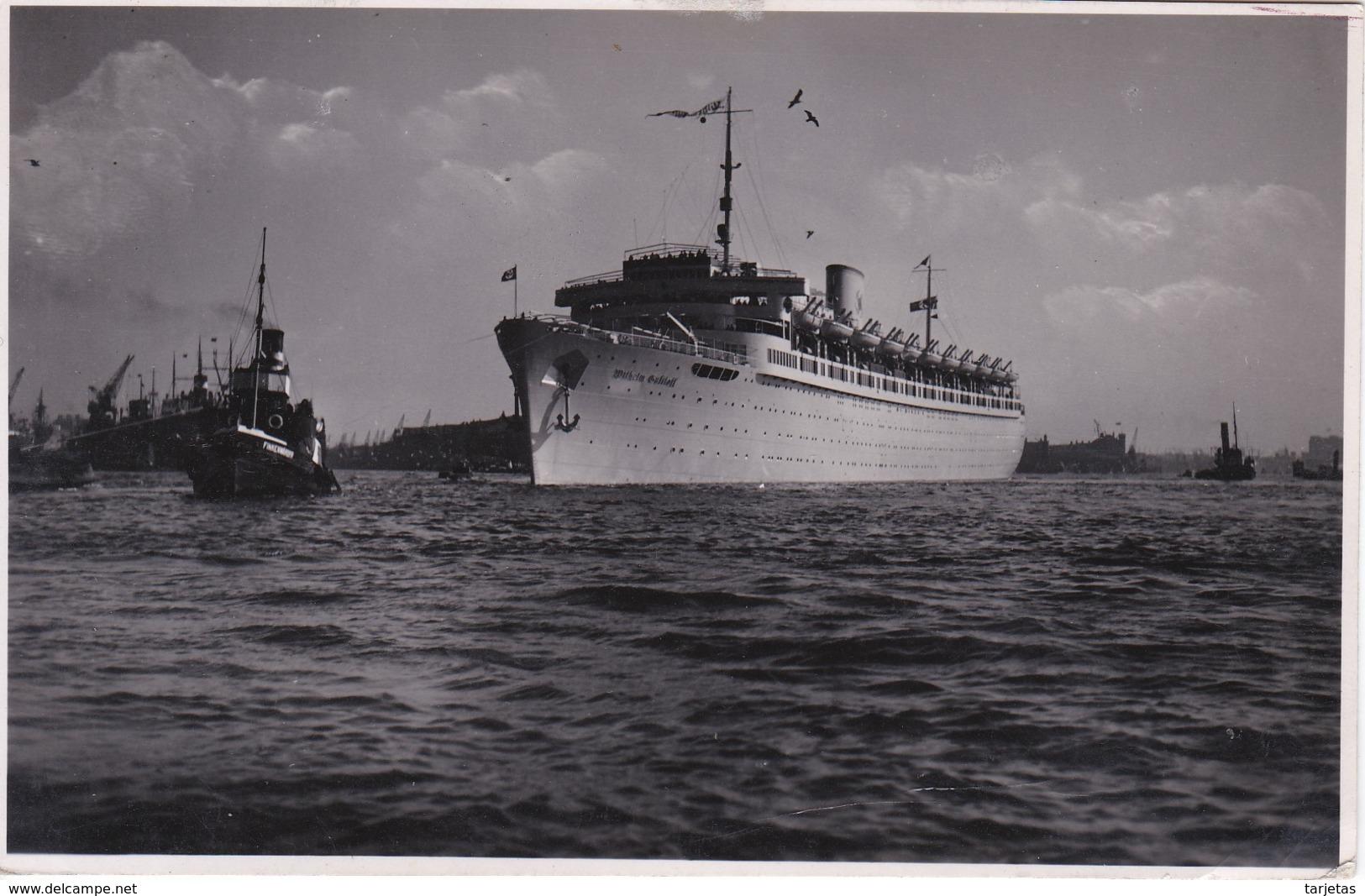 POSTAL DEL BARCO WILHELM (BARCO-SHIP) COLECCION GALILEA - Comercio