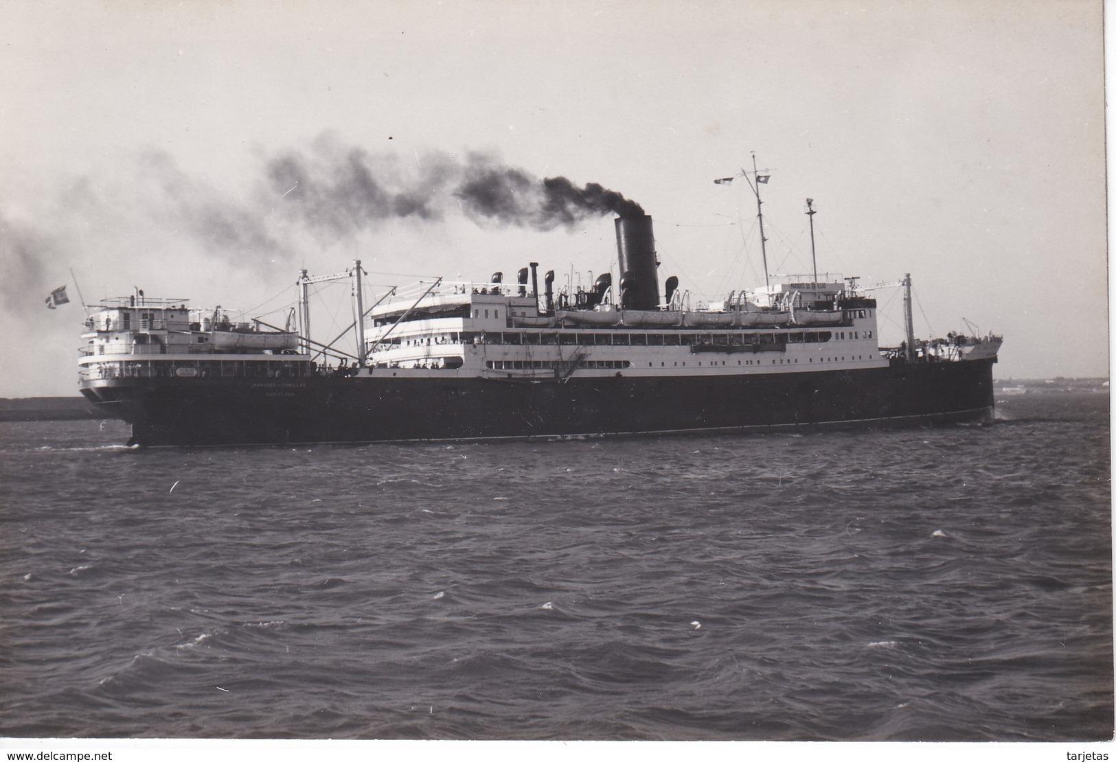 POSTAL DEL BARCO MARQUES DE COMILLAS (BARCO-SHIP) CIA TRASATLANTICA ESPAÑOLA S.A. (M. GALILEA) - Comercio