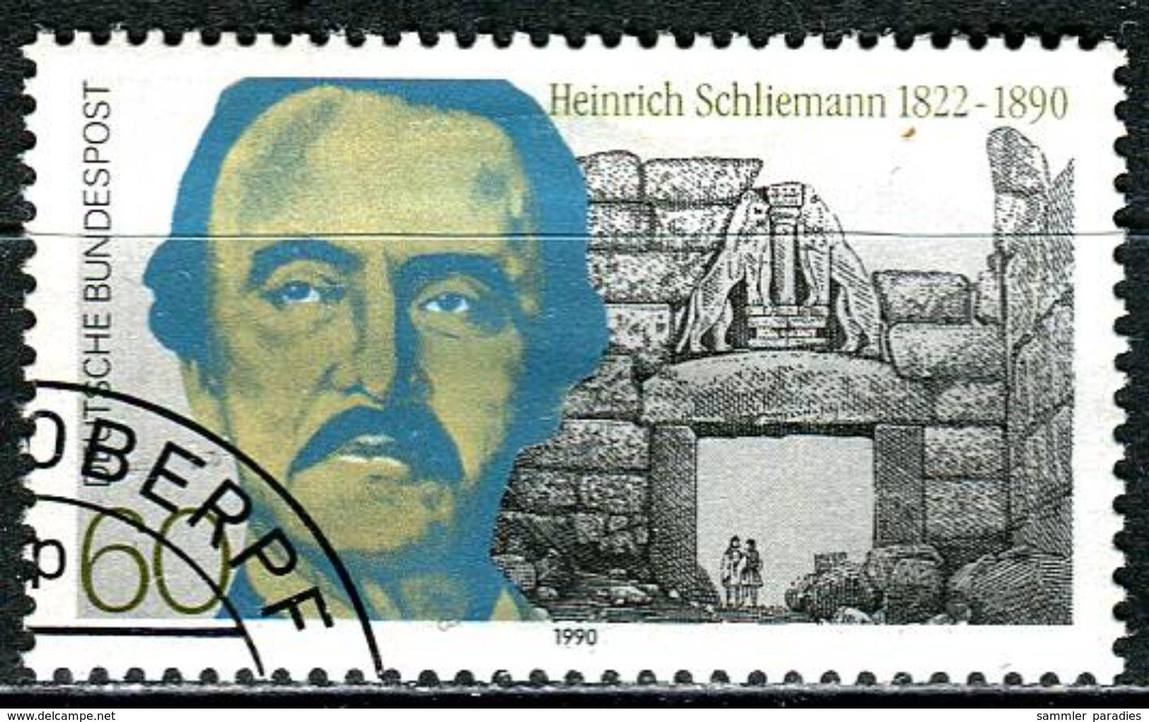 BRD - Michel 1480 - OO Gestempelt (A) - 60Pf     Heinrich Schliemann - Oblitérés