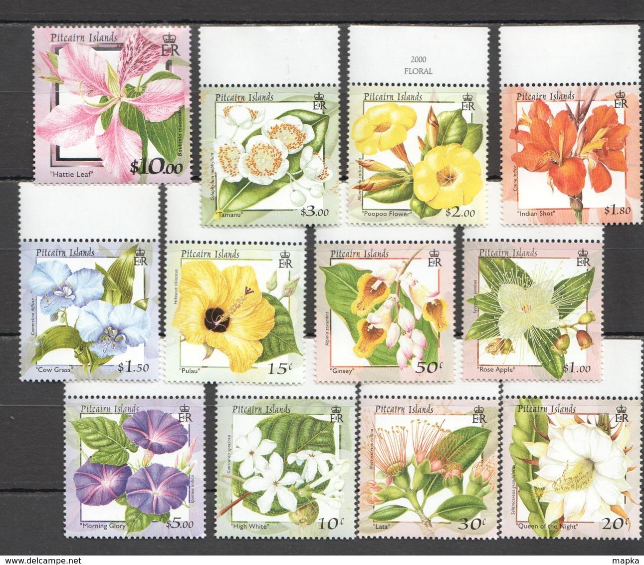 S865 PITCAIRN ISLANDS PLANTS FLOWERS SILVER !!! MICHEL 26 EURO !!! 1SET MNH - Pflanzen Und Botanik