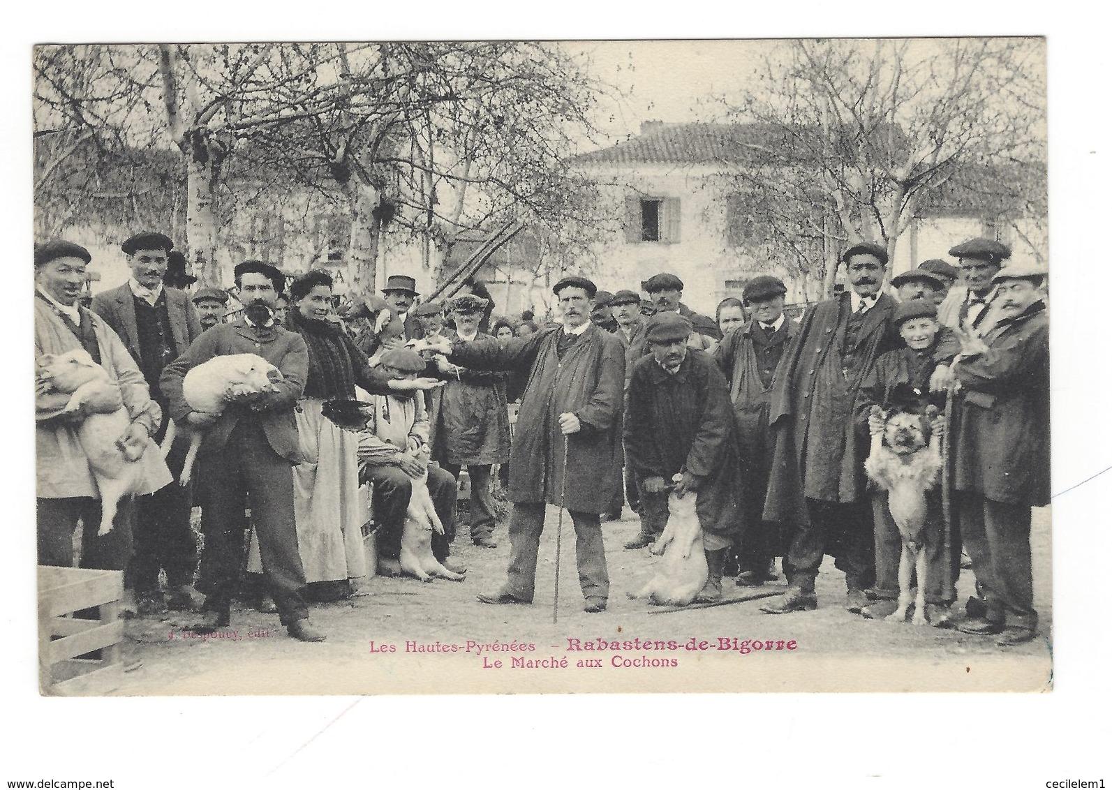 Rabastens De Bigorre - Marché Aux Cochons 1914 - Foires