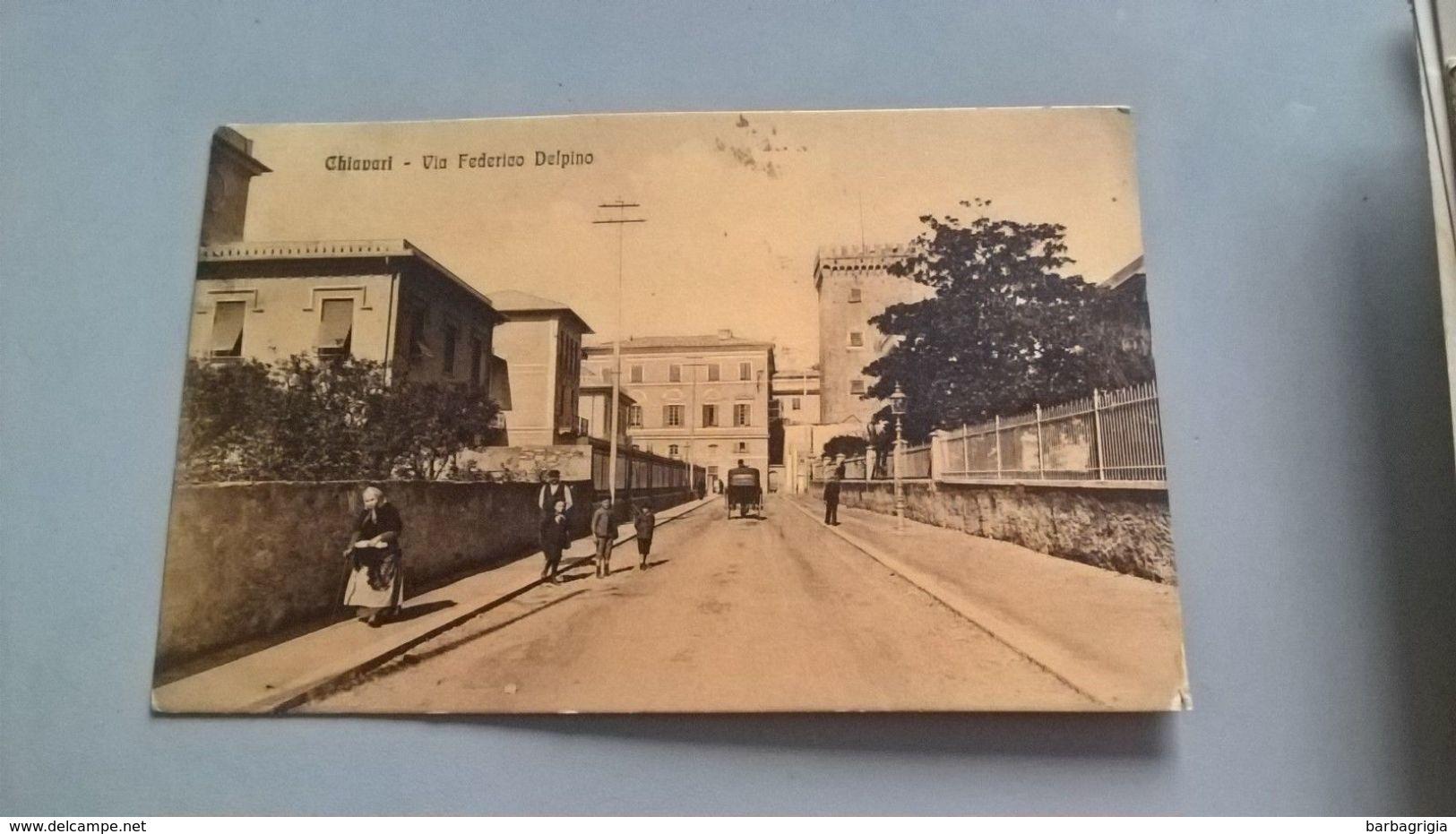 CARTOLINA CHIAVARI - VIA FEDERICO DELPINO - Genova (Genoa)