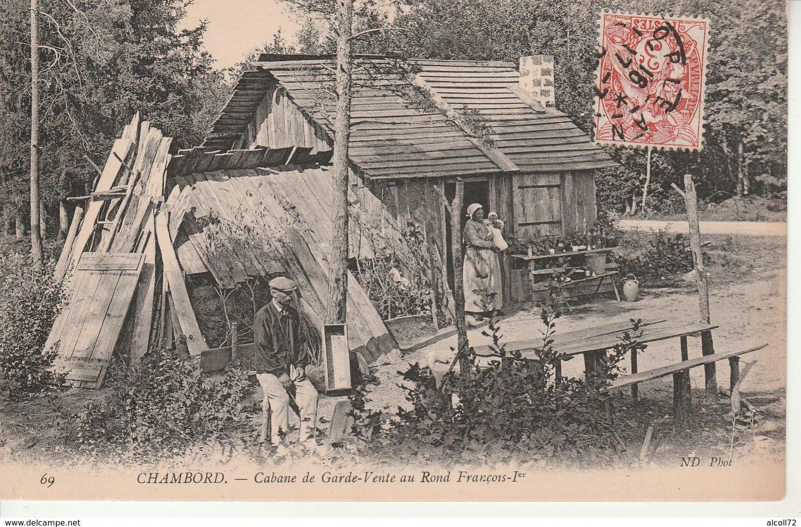 Chambord-Cabane De Garde-Vente Au Rond François1er. - Chambord