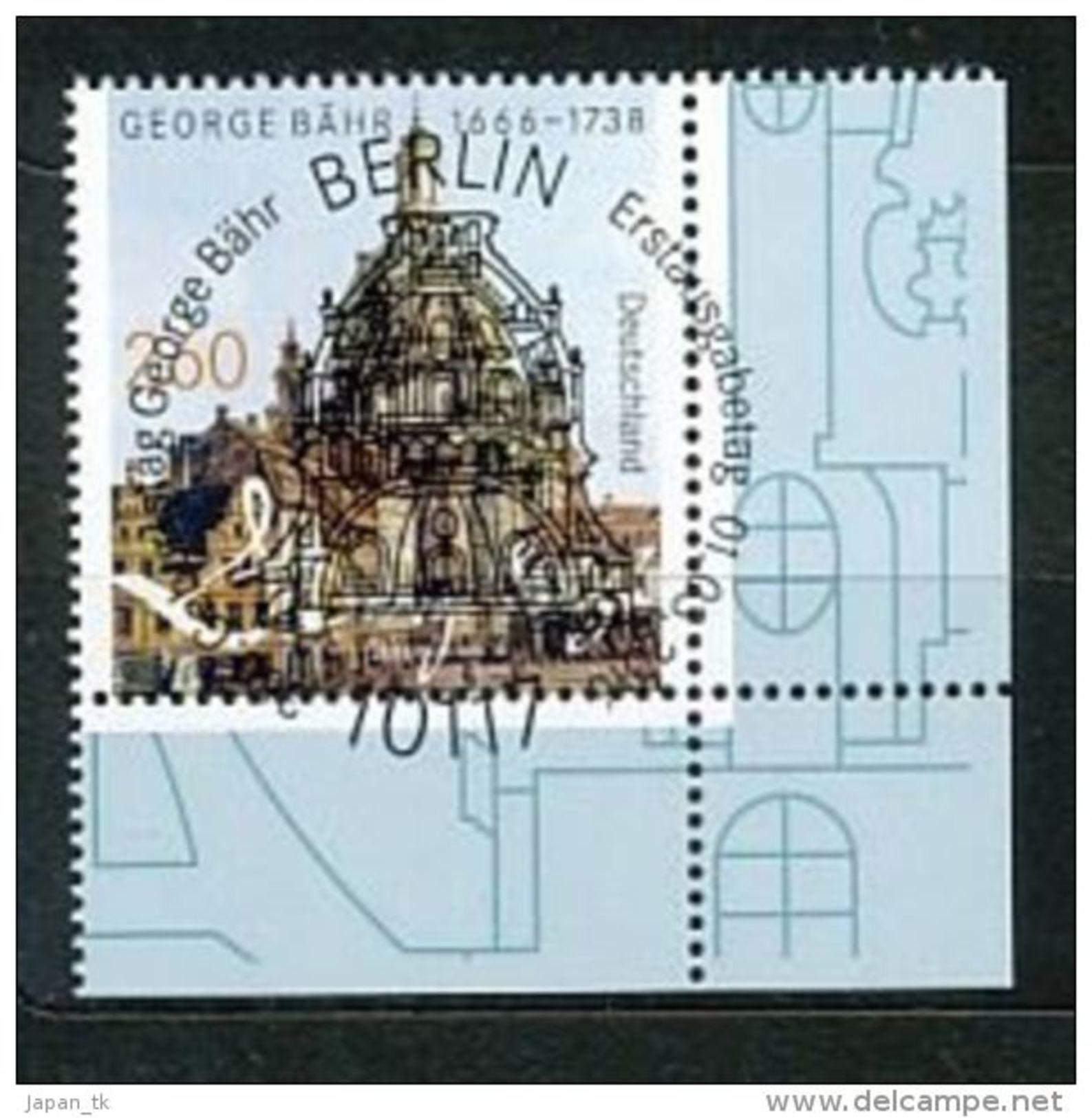 GERMANY  Mi.Nr. 3219 350. Geburtstag Von George Bähr - ESST Berlin - Eckrand Unten Rechts  - Used - BRD