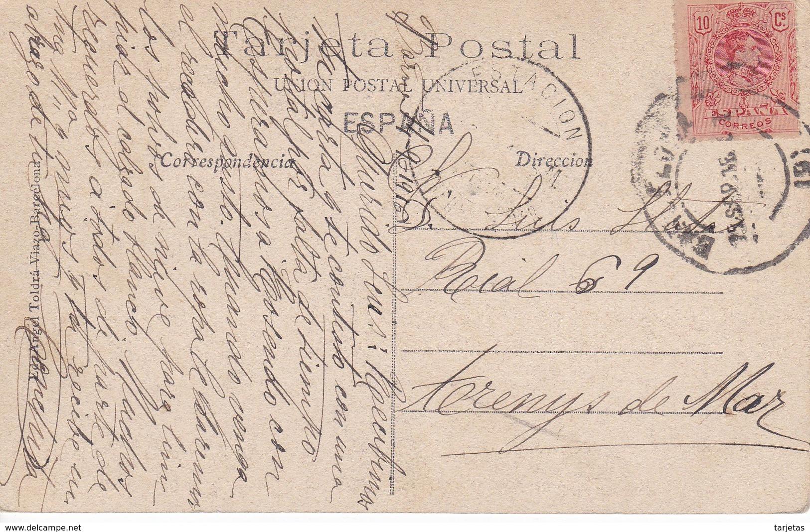 ATV 591 POSTAL DE TORTOSA DE LA CATEDRAL - FACHADA LATERAL DEL AÑO 1916 (ANGEL TOLDRA) (TARRAGONA) - Tarragona