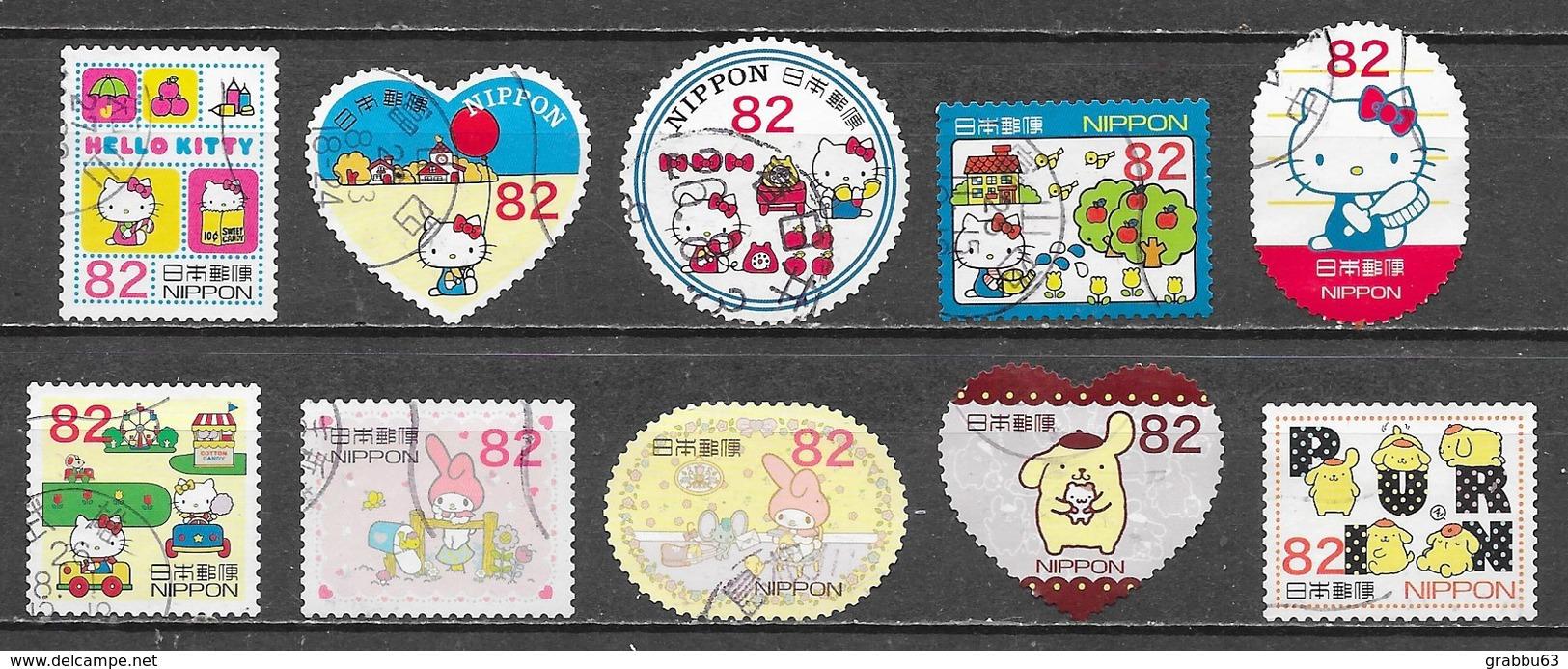 Japon - Hello Kitty - Série Complète 2014 - Oblitérés - Lot 628 - Used Stamps