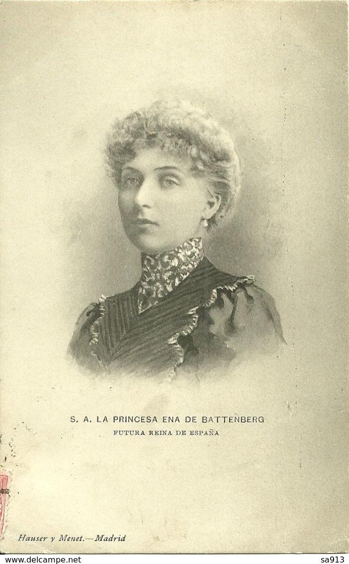 S. A.La Princesa Ena De Battenberg - Royal Families