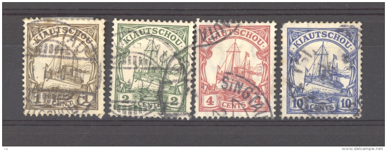 Allemagne  -  Kiautchou  :  Yv  24-27  (o) - Colonie: Kiautchou