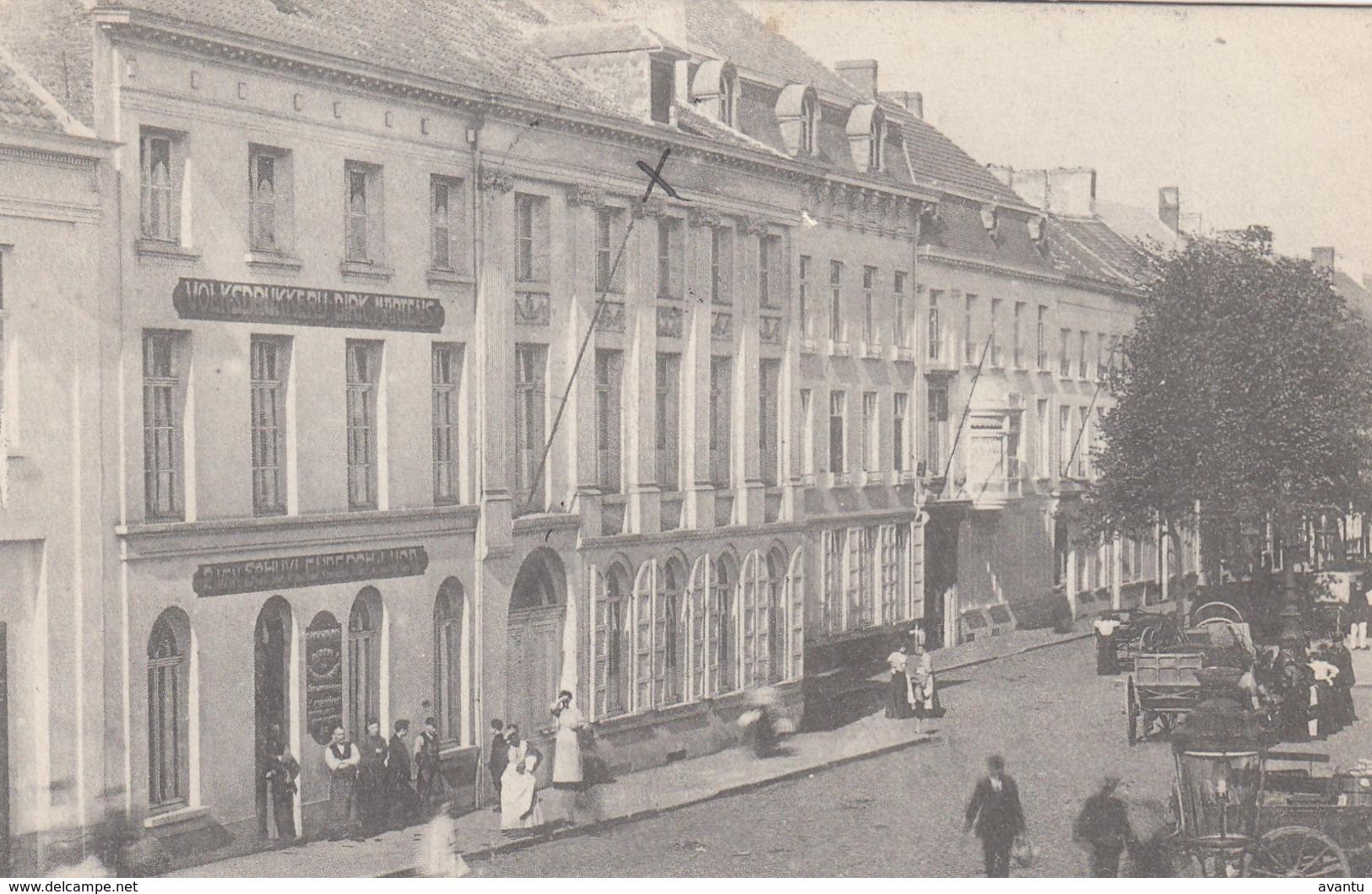 AALST / VOLKSDRUKKERIJ DIRK MARTENS / STRAATBEELD   / ATTELAGES 1912 - Aalst