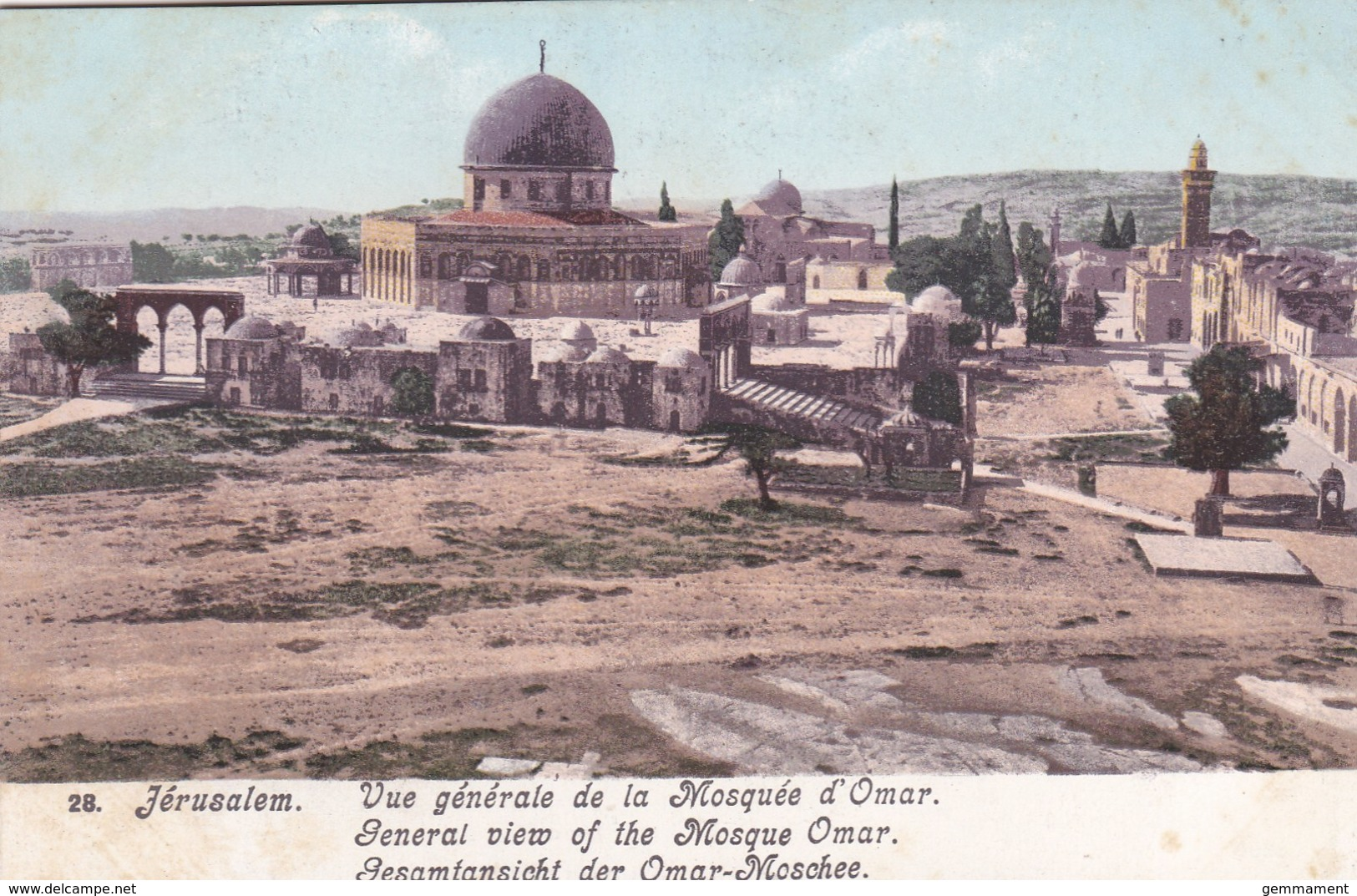 JERUSALEM - GENERAL VIEW OF THE MOSQUE OMAR - Lebanon