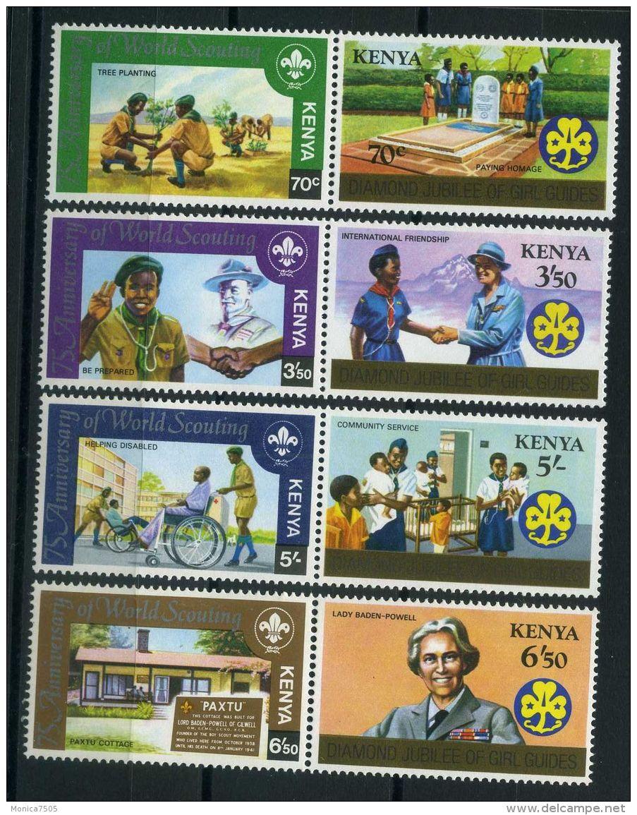 KENYA ( POSTE ) Y&T N°  216/223  TIMBRES  NEUFS  SANS  TRACE  DE  CHARNIERE , A  VOIR . - Kenya (1963-...)