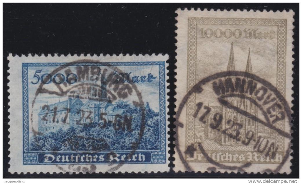Deutsches  Reich   .    Michel   .   261/262     .     O     .     Gebraucht   .   /     .    Cancelled - Deutschland