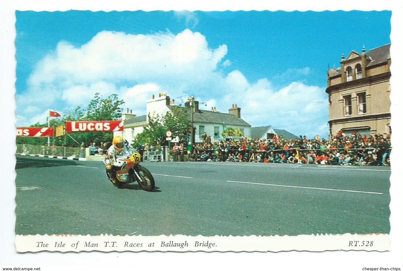 Isle Of Man T.T. Races At Ballaugh Bridge. - Bamforth RT.528 - Isle Of Man