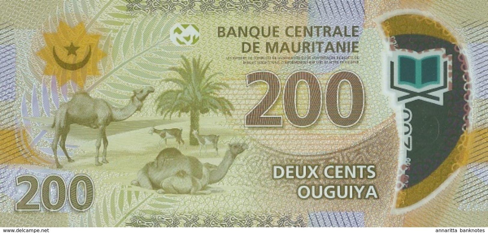 MAURITANIA 200 OUGUIYA 2017 P-24a UNC  [MR128a] - Mauritania
