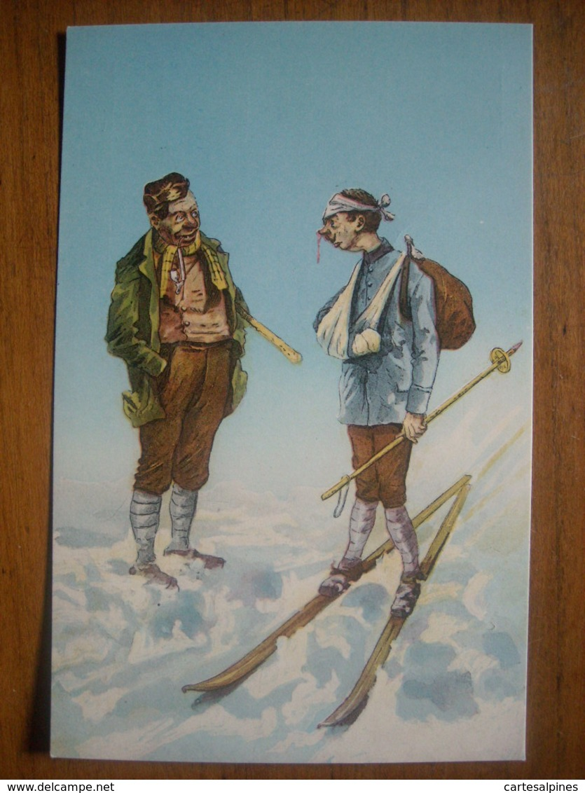 (ski) Accident De Ski. Carte Neuve éditée Vers 1910. Etat LUXE (neuve). - Sports D'hiver