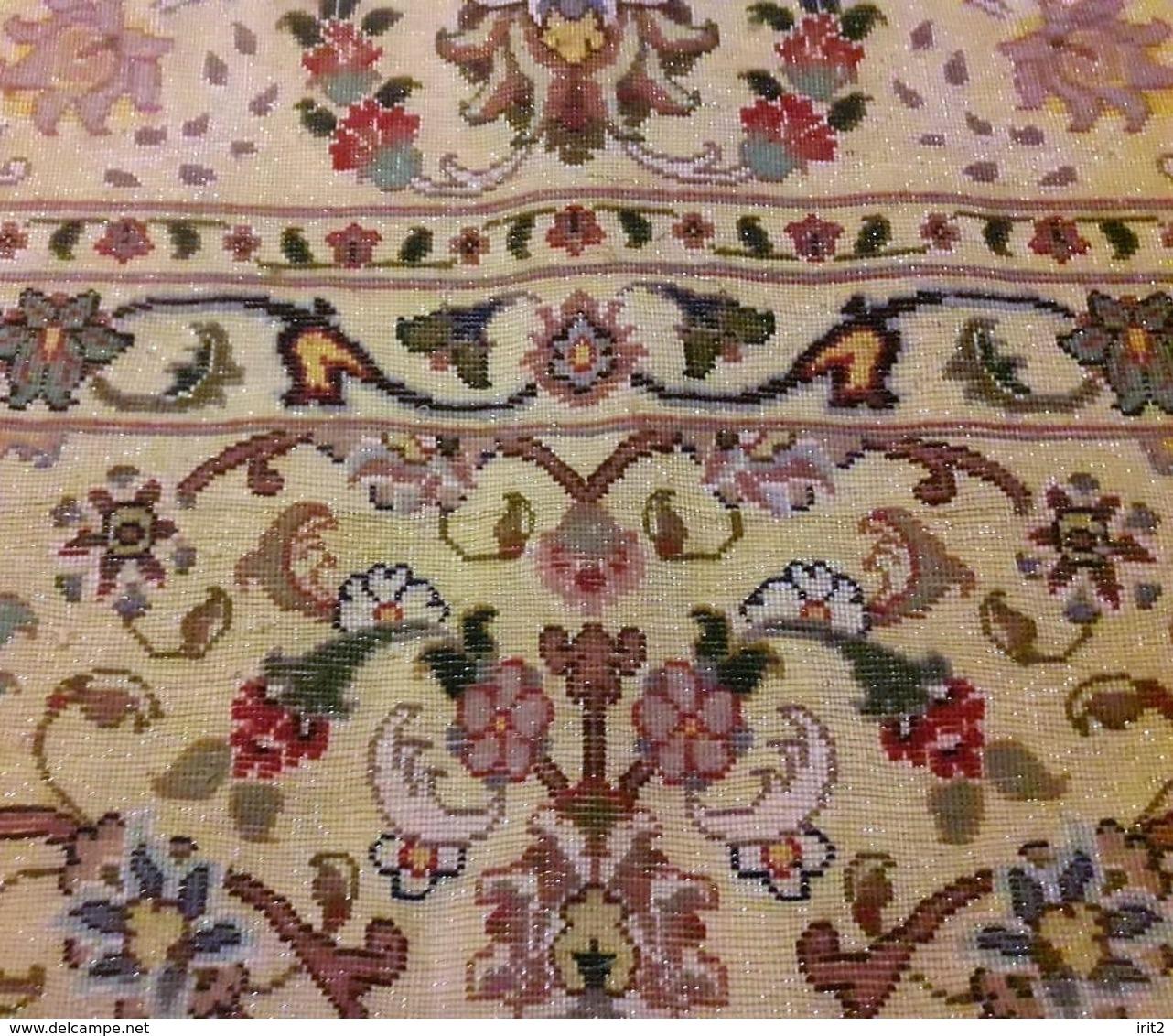 Persia - Iran - Tappeto Persiano Tabriz (Suf) Filo D'oro - Seta - Lana, Motivo A Rilievo - Extra Fine - Tappeti & Tappezzeria