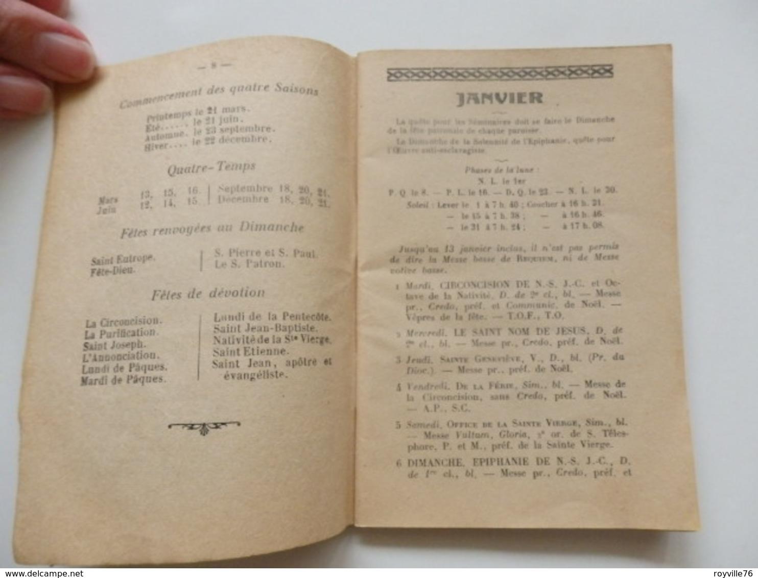 Almanach Paroissial De 1957 Contenant L'ordre Des Offices De Tous Les Jours De La Rochelle 17. 64 Pages. - Religion & Esotericism