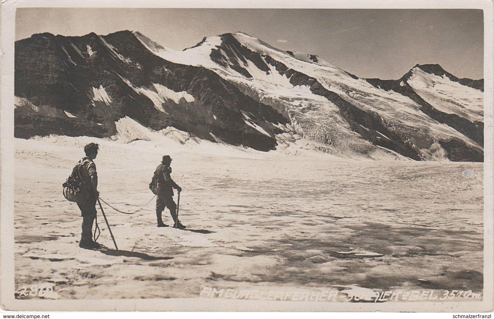 AK Gurglerferner Gurgler Ferner Gletscher Schalfkogel Ski Skifahrer Seilschaft Kletterer Winter Sölden Vent Gurgl Tirol - Sölden
