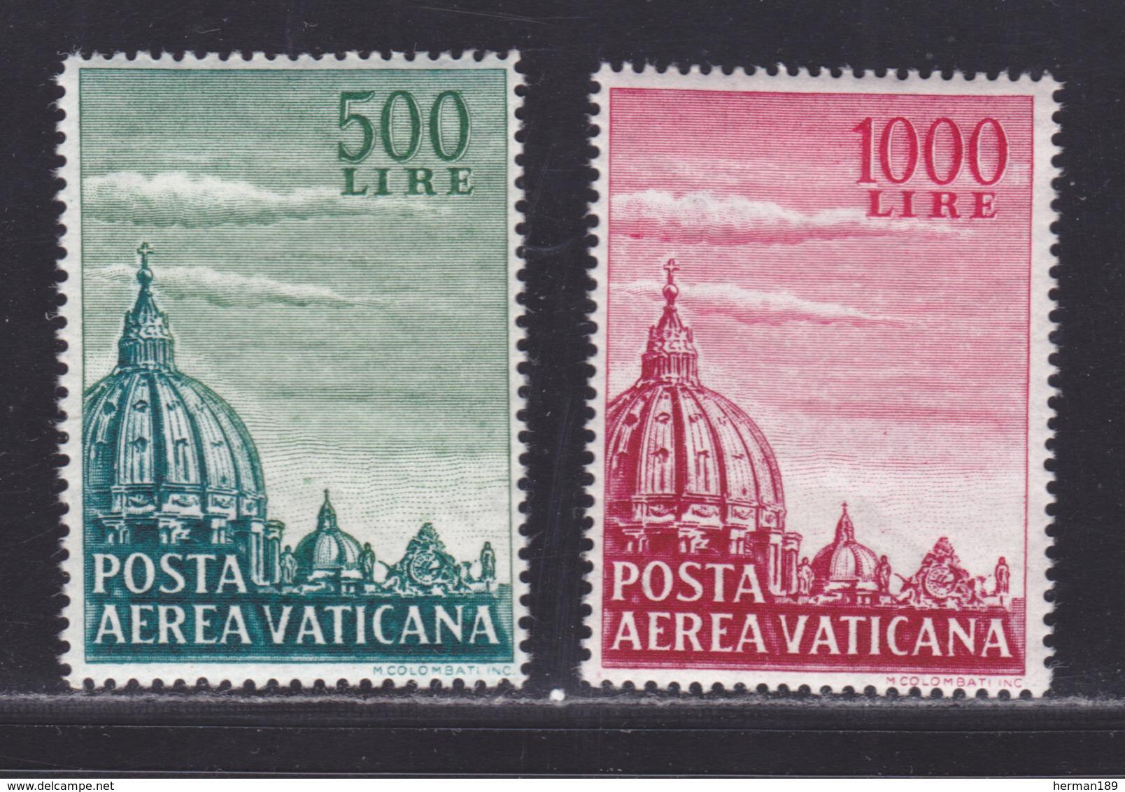 VATICAN AERIENS N°   33 & 34 ** MNH Neufs Sans Charnière, TB (D5641) Dôme De Saint Pierre De Rome - Airmail