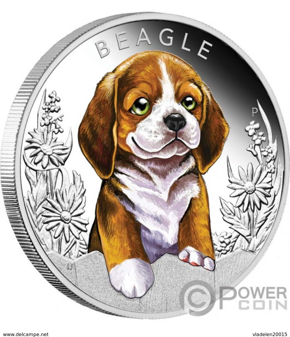 Coins Tuvalu 2018.BEAGLE Dogs Puppies Silver Coin 50 Cents. - Tuvalu
