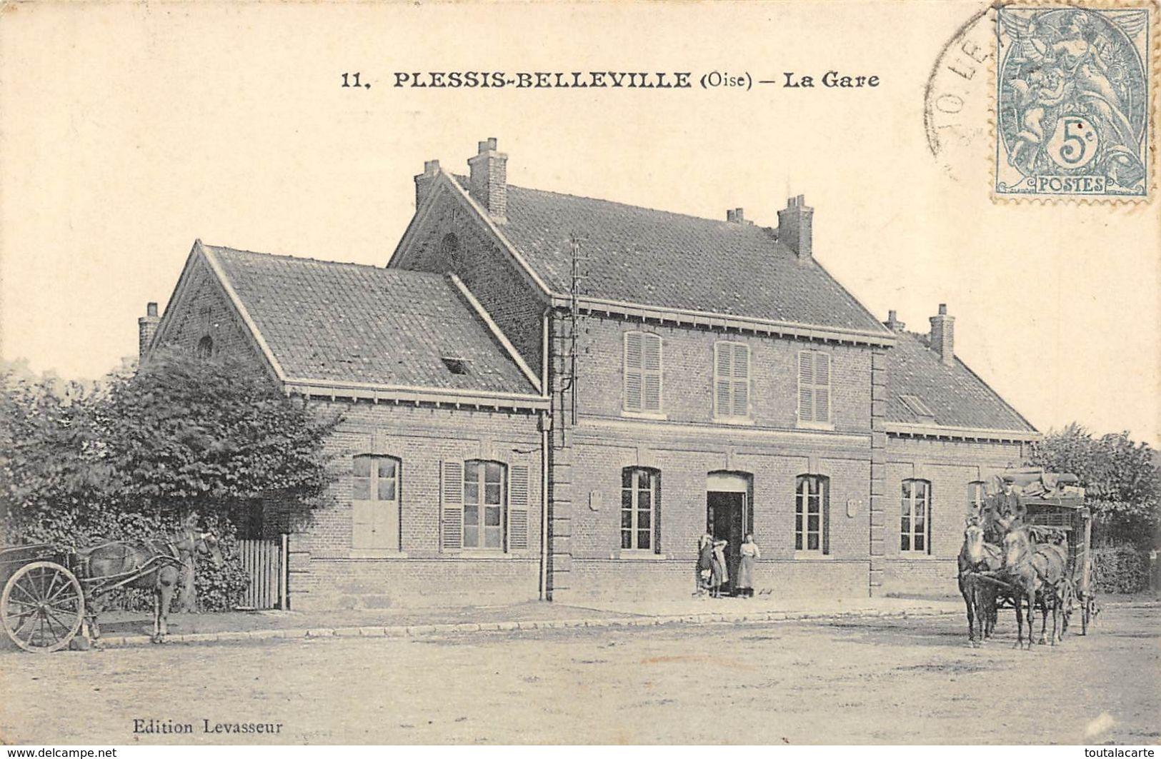CPA 60 PLESSIS BELLEVILLE LA GARE - France