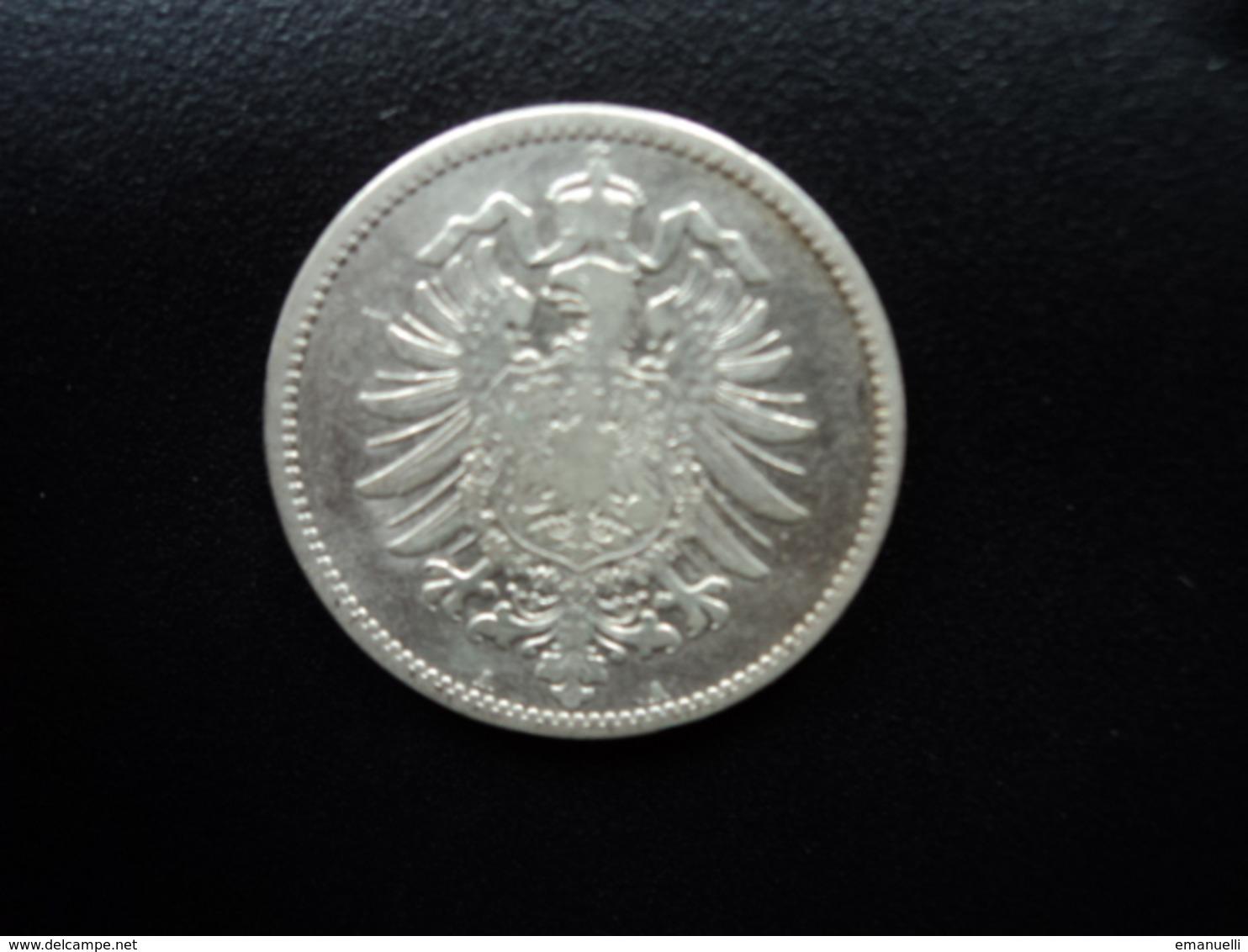 ALLEMAGNE : 1 MARK  1876 A  KM 7    TB+ / TTB - [ 2] 1871-1918: Deutsches Kaiserreich