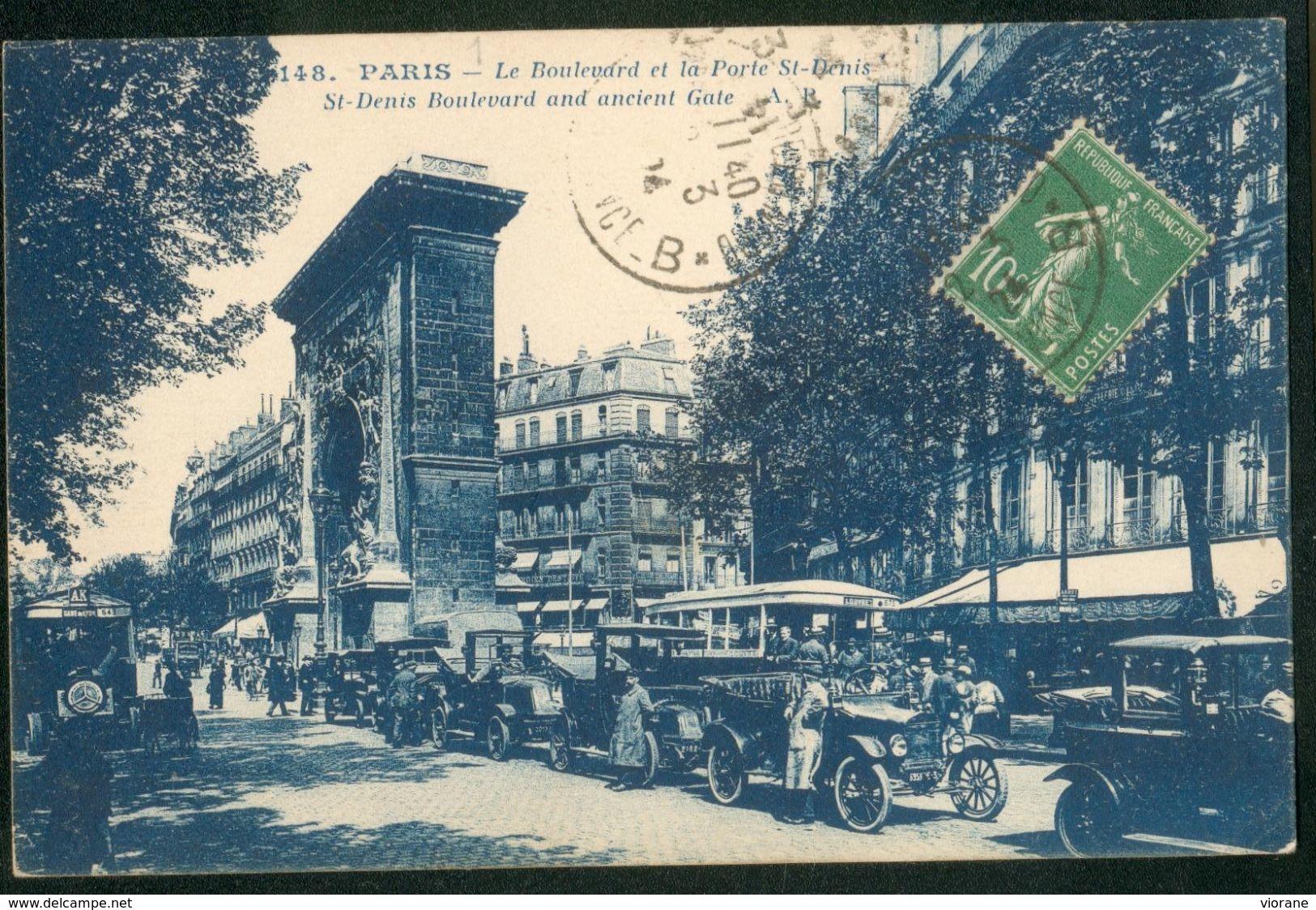 Le Boulevard Et La Porte St-Denis - France