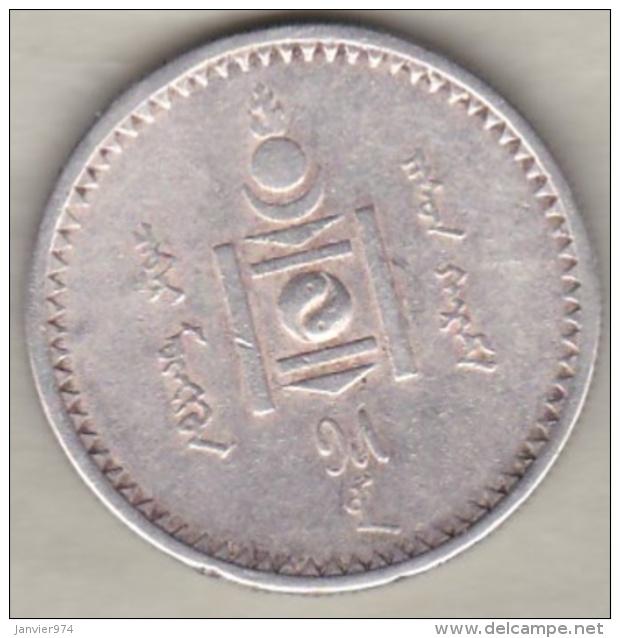Mongolie , 50 Mongo AH15 (1925) , Argent . KM# 7 - Mongolie
