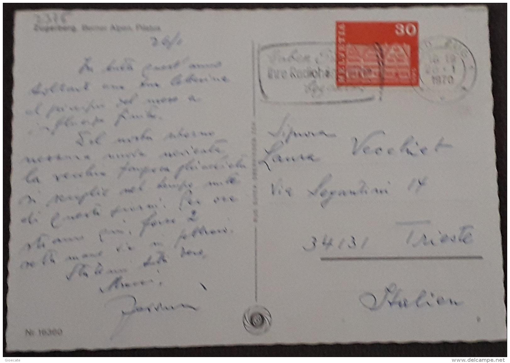 Zugerberg – Berner Aplen – Pilatus – Nr. 16360 – Viagg. 1970 – (2375) - ZG Zoug