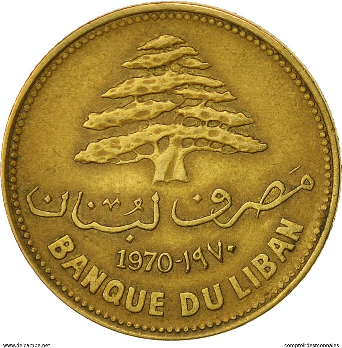 Lebanon, 25 Piastres, 1970, TTB, Nickel-brass, KM:27.1 - Liban