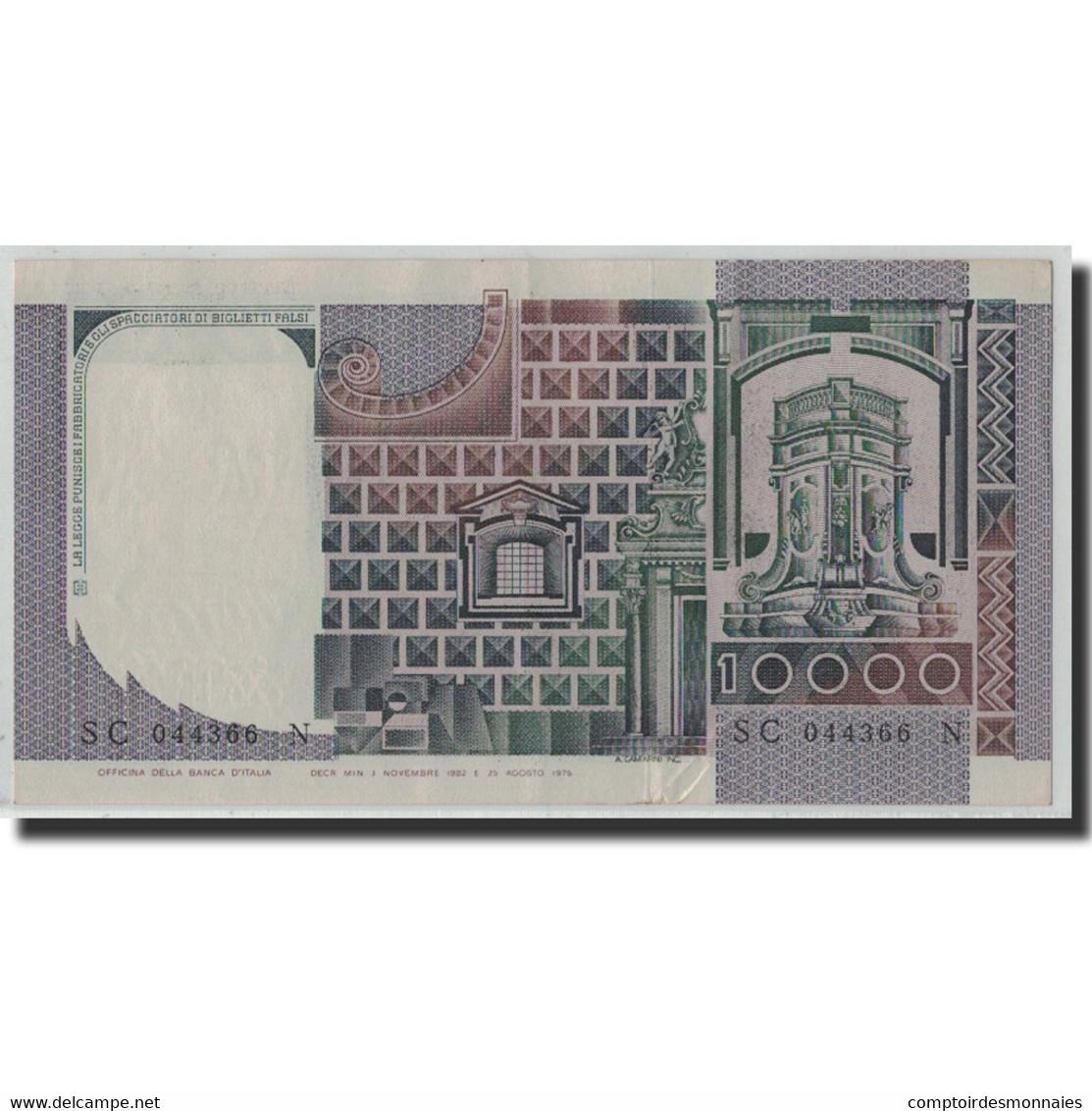 Billet, Italie, 10,000 Lire, 1982, 1982-11-03, KM:106b, TTB+ - [ 2] 1946-… : République