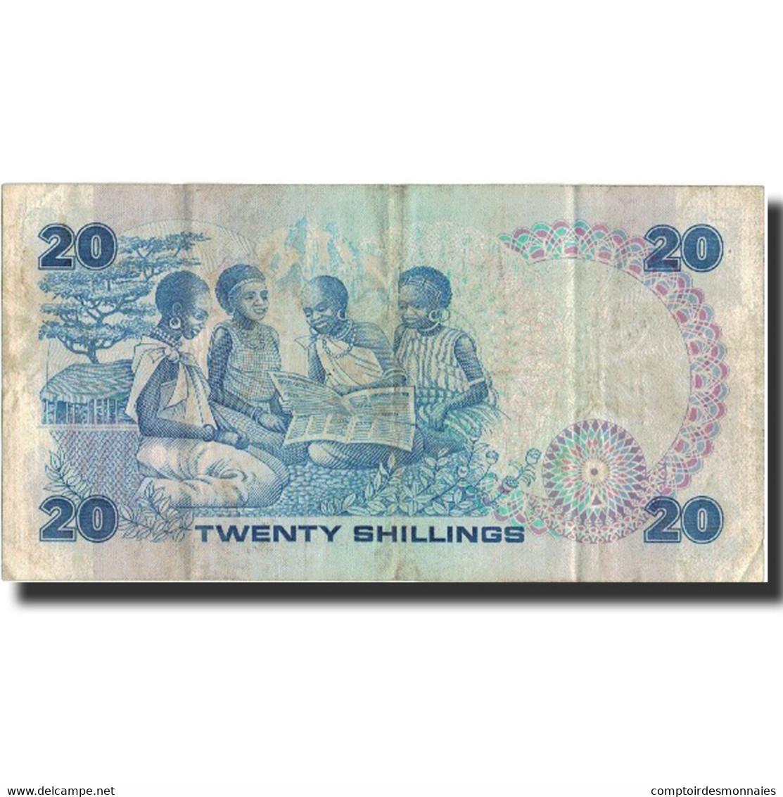 Billet, Kenya, 20 Shillings, 1986, 1986-09-14, KM:21e, TB - Kenya
