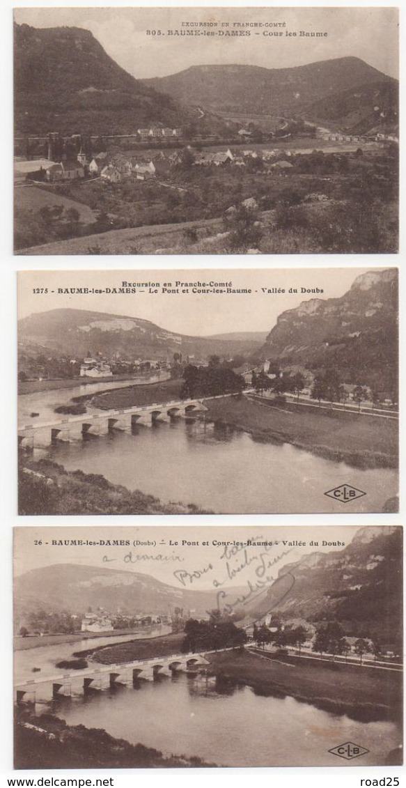 ( 25 ) Lot De 95 Cartes Postales Anciennes Du Département Du Doubs - Ansichtskarten