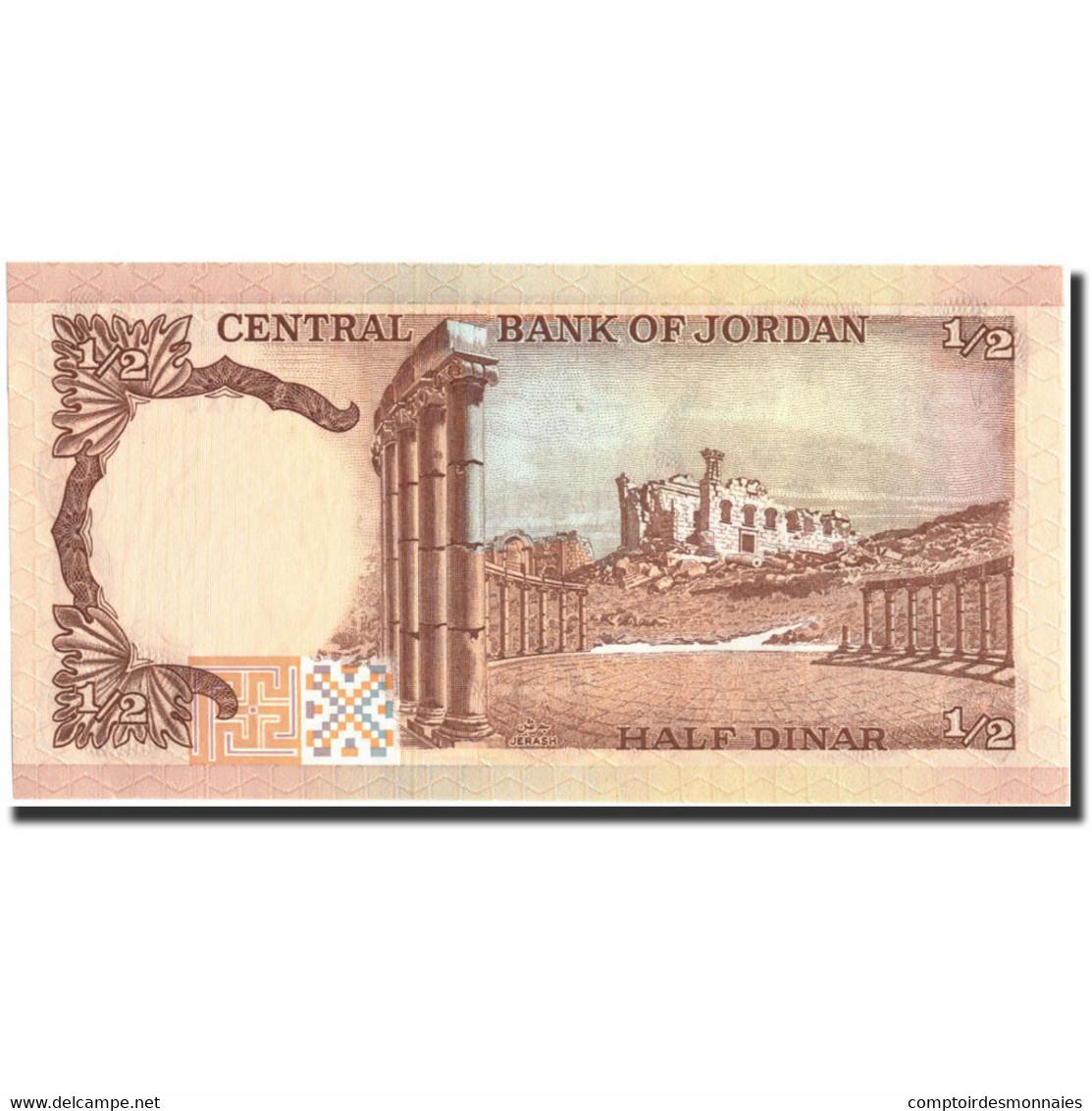 Billet, Jordan, 1/2 Dinar, Undated (1975-92), Undated, KM:17d, NEUF - Jordanie