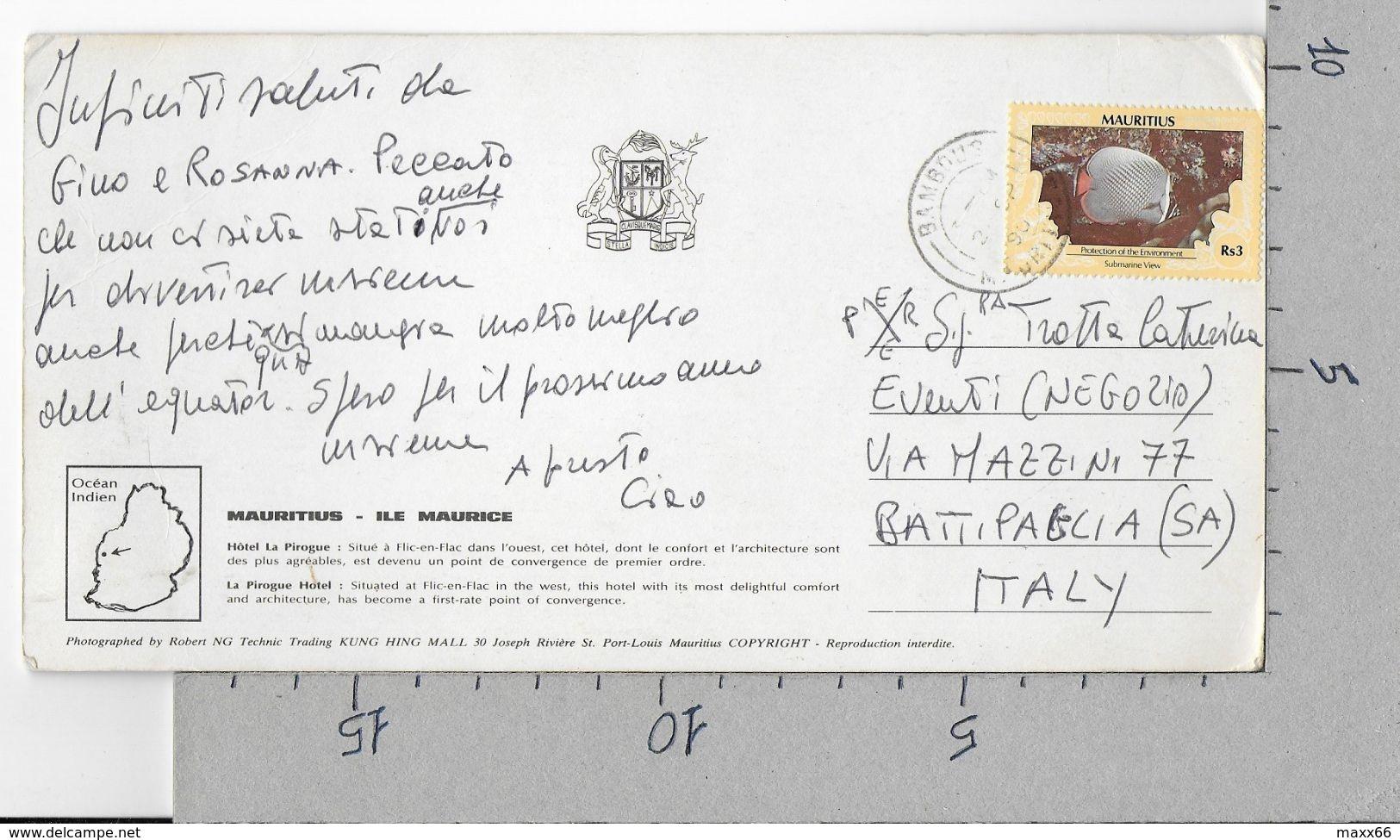 CARTOLINA VG MAURITIUS - Hotel La Pirogue - 10 X 20 - ANN. 1990 - Mauritius