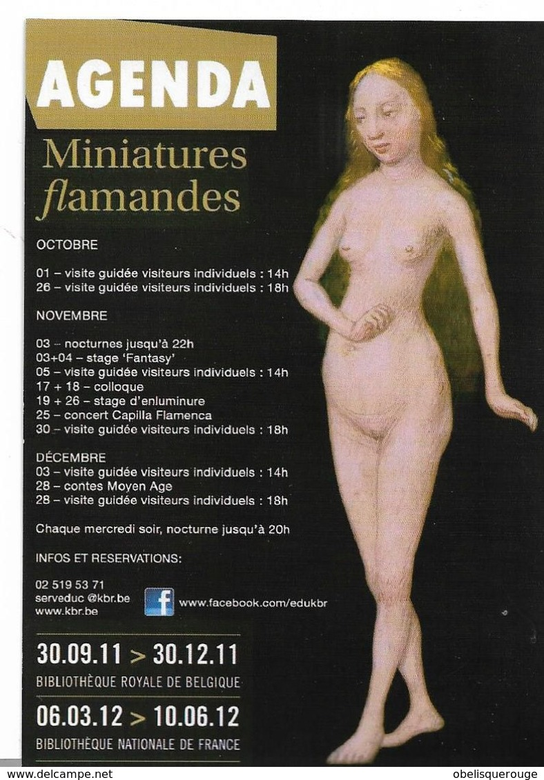 75  PARIS    BNF AGENDA MINIATURES FLAMANDES NUE NUES - Mujeres