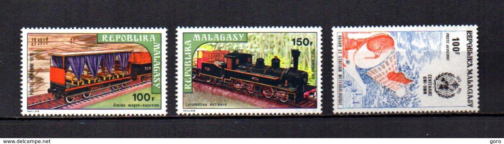 Madagascar   1973   .-   Y&T Nº   127/128-129     Aéreos    (  *   S/goma  ) - Madagascar (1960-...)