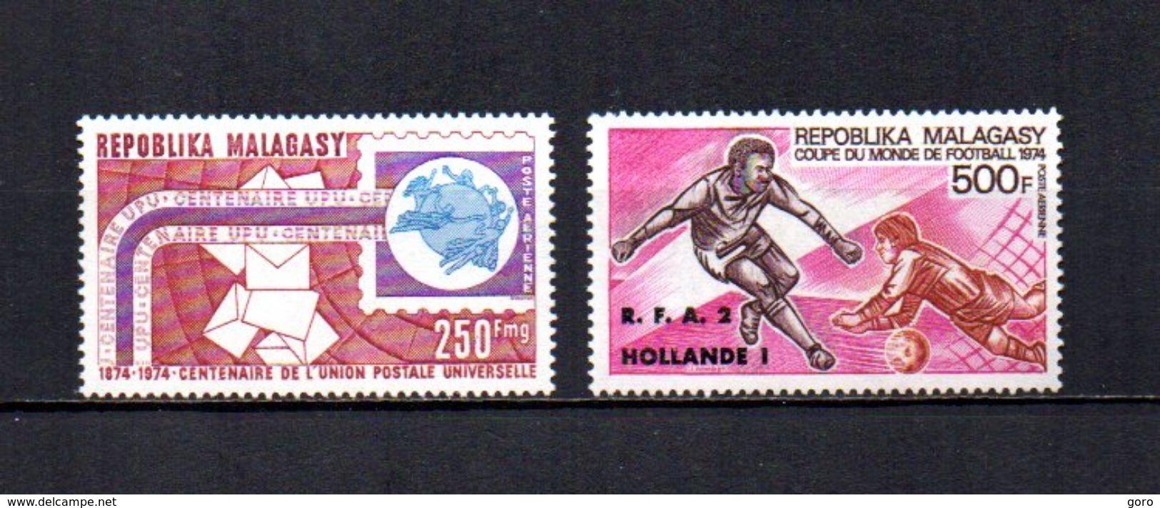 Madagascar   1974   .-   Y&T Nº   142/143     Aéreos    (  *   S/goma  ) - Madagascar (1960-...)