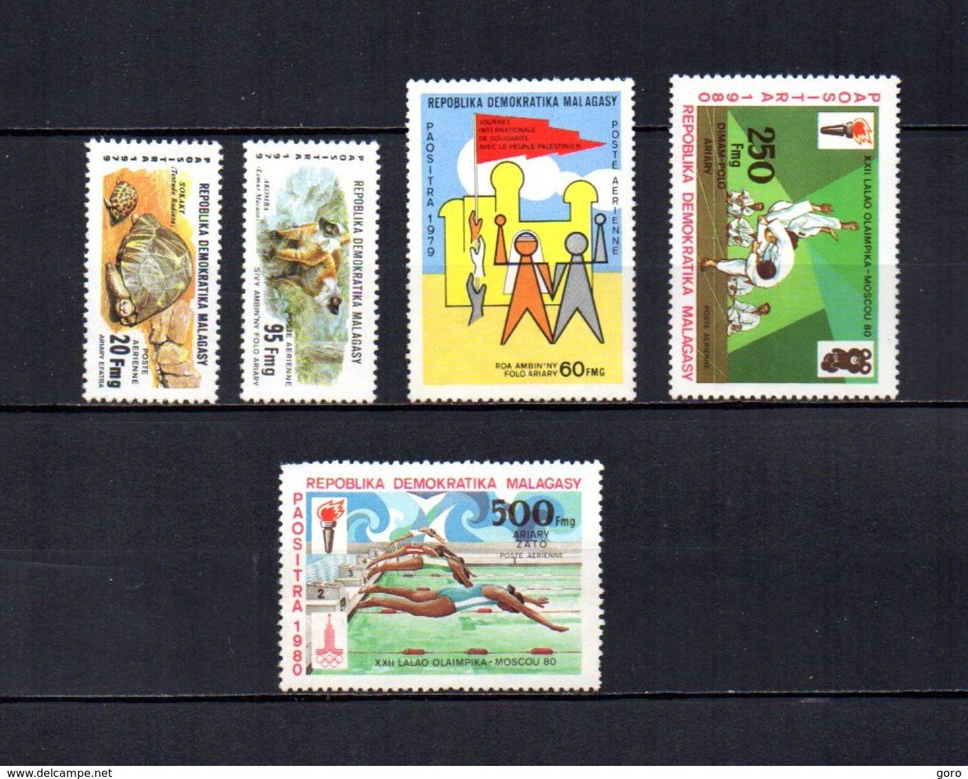 Madagascar   1979-80   .-   Y&T Nº   177/178-179-180/181     Aéreos    (  *   S/goma  ) - Madagascar (1960-...)
