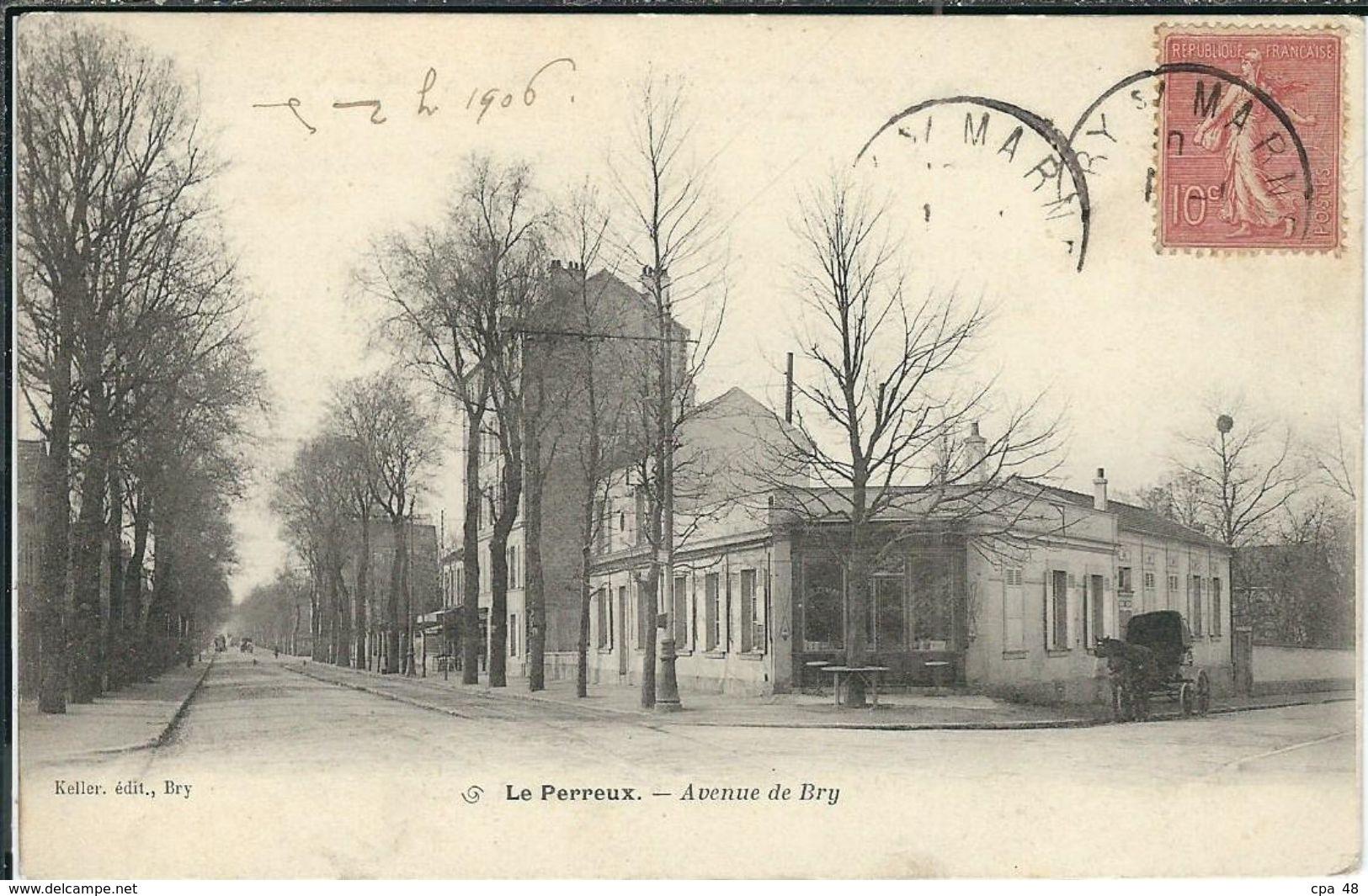 Val De Marne : Le Perreux, Avenue De Bry - Le Perreux Sur Marne