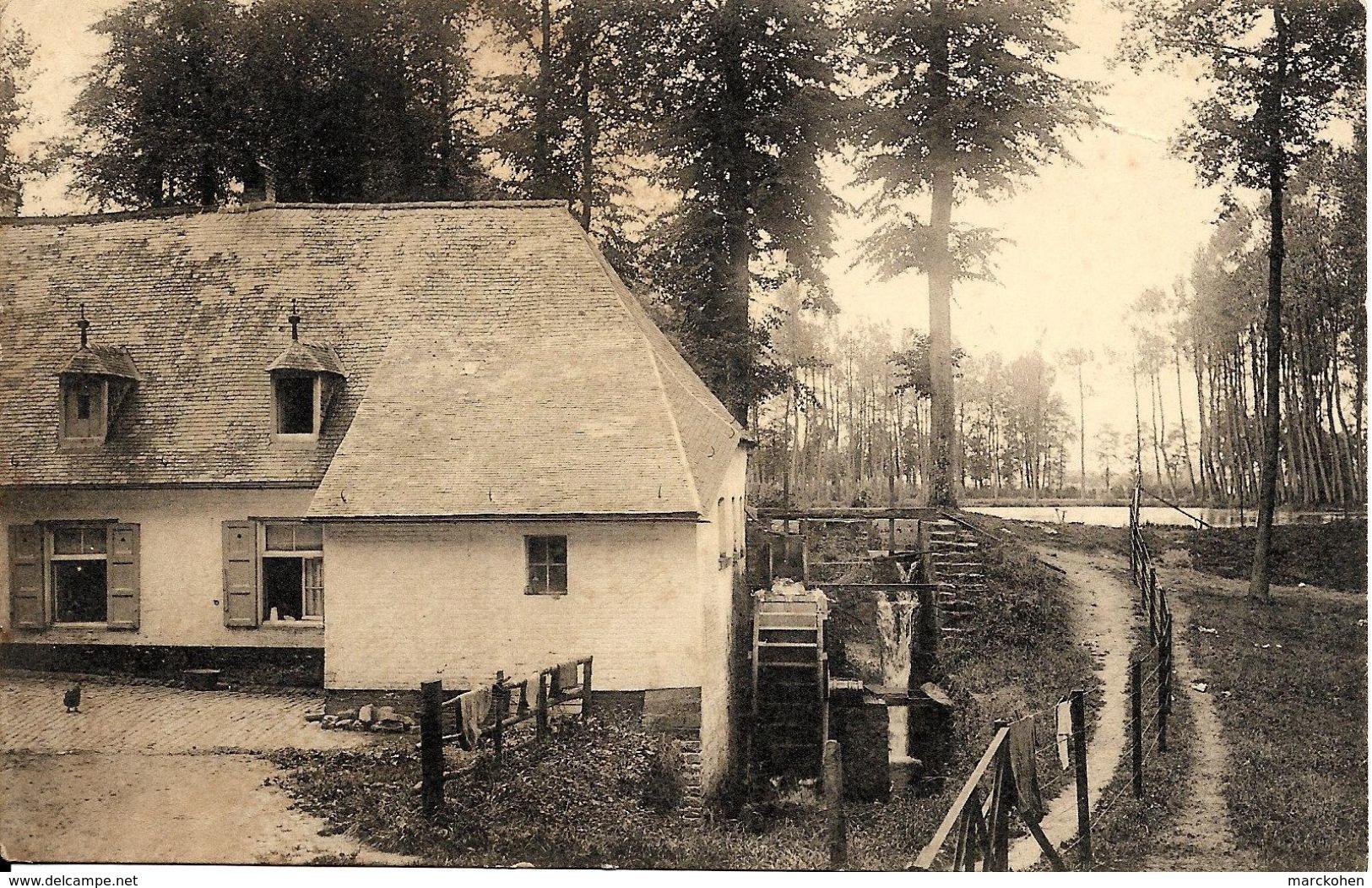 WEMMEL (1780) : Le Moulin à Eau D'Amelghem En Activité, à La Limite De Meise. CPA Rare. ED. - Wemmel